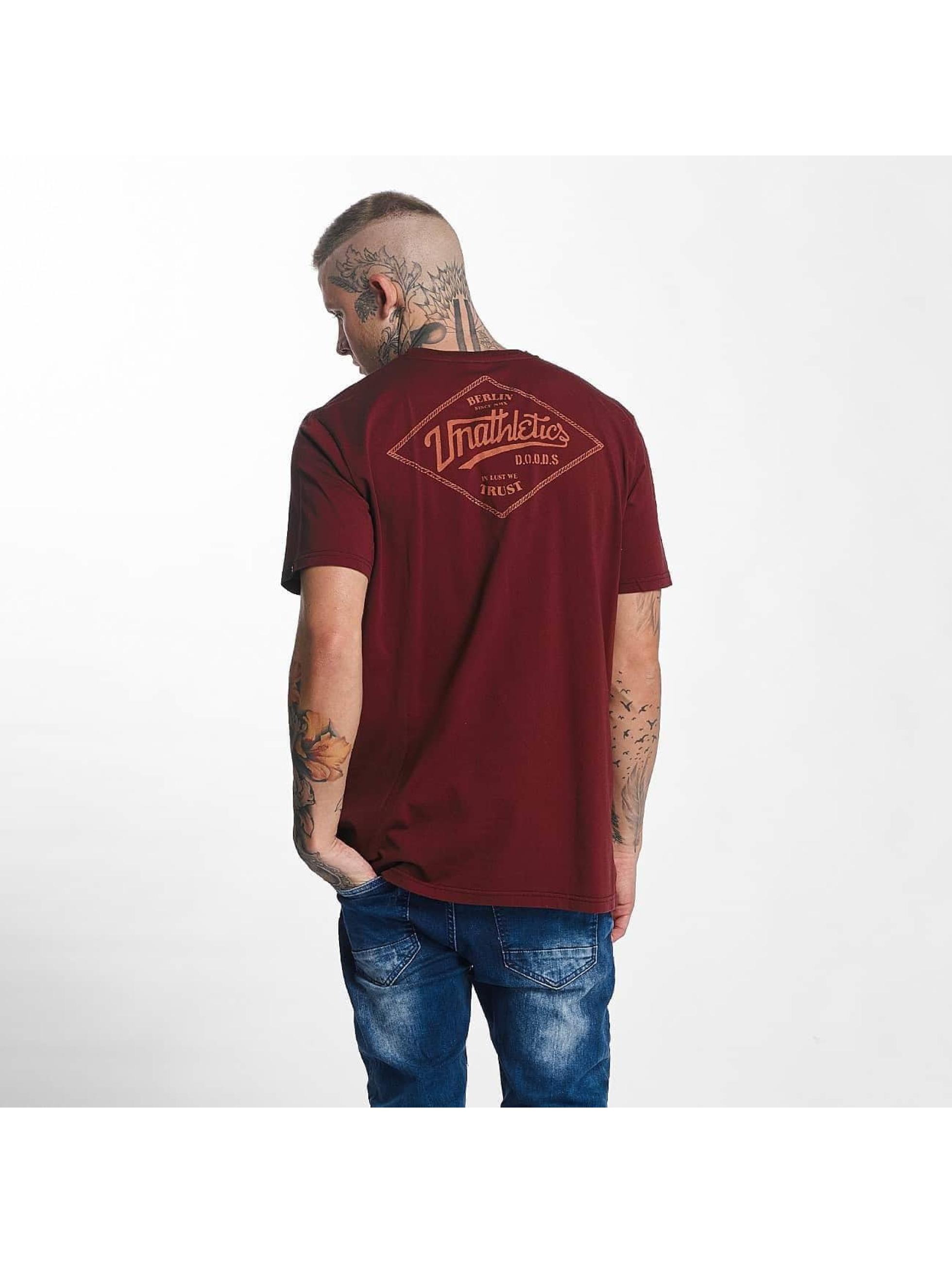 The Dudes Männer T-Shirt Unathletics Stamp in rot