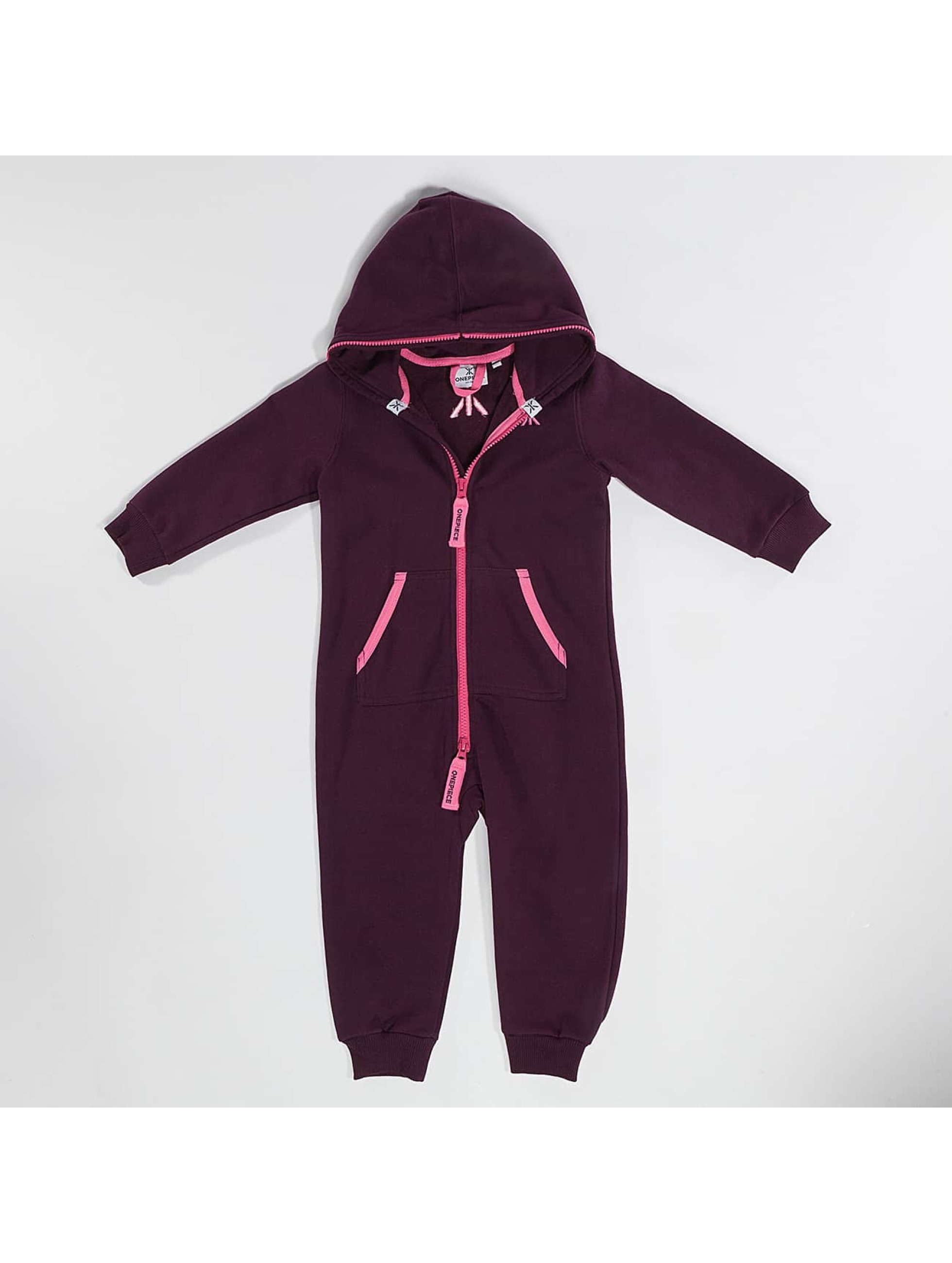 OnePiece Kinder Jumpsuit Solid in rot