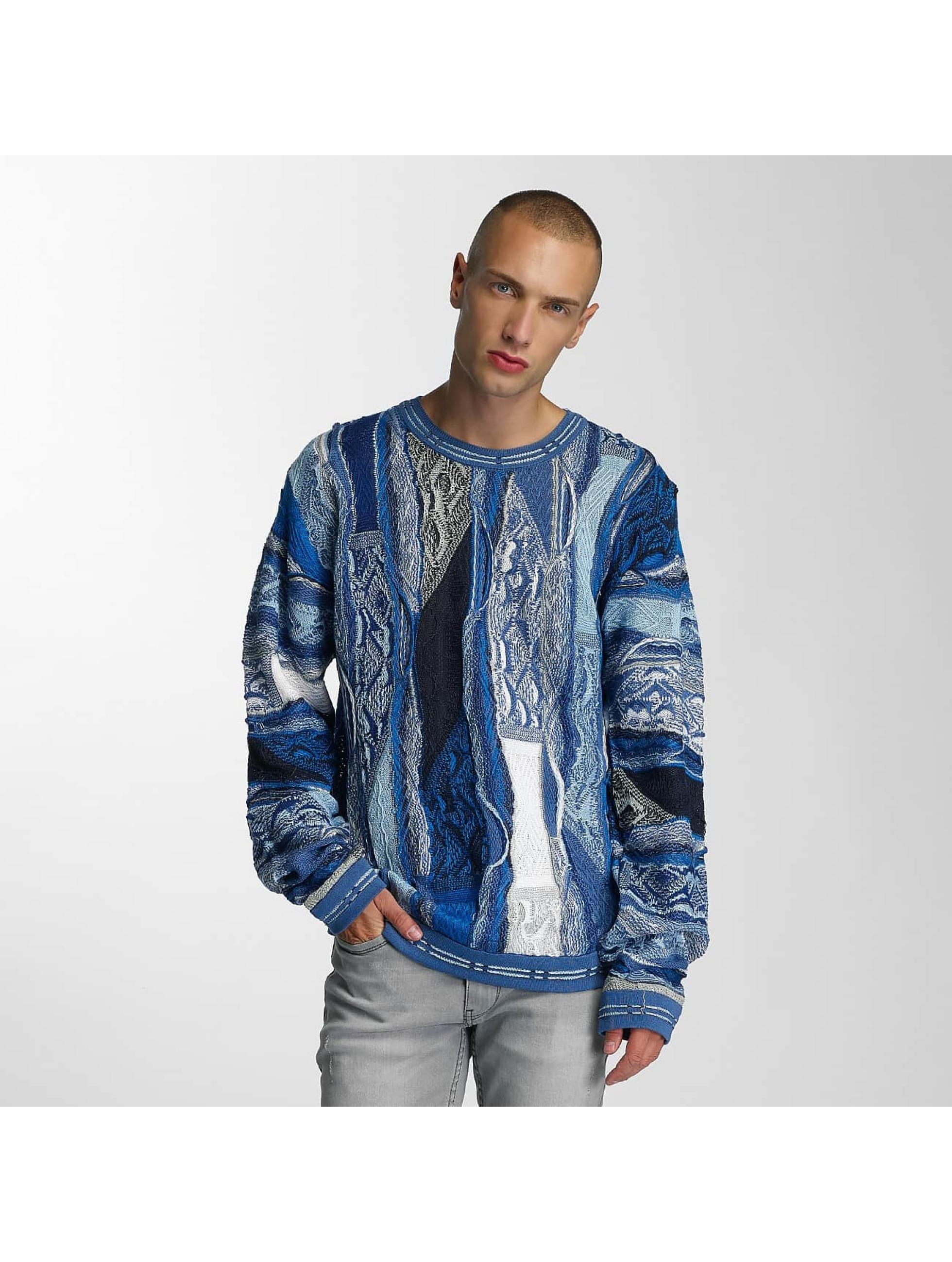 Coogi Männer Pullover Patchwork in blau