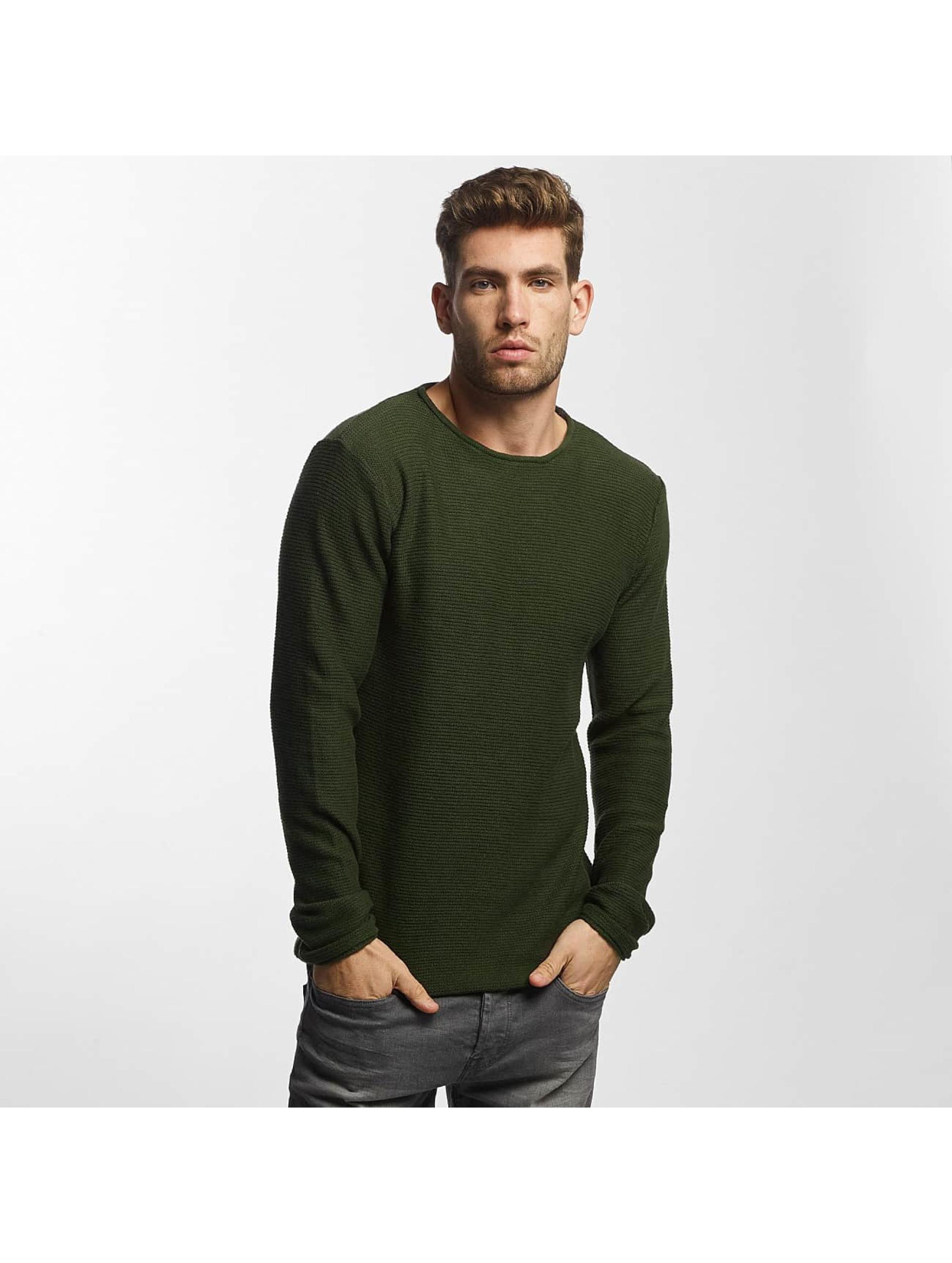 Solid Männer Pullover Jarah Knit in grün