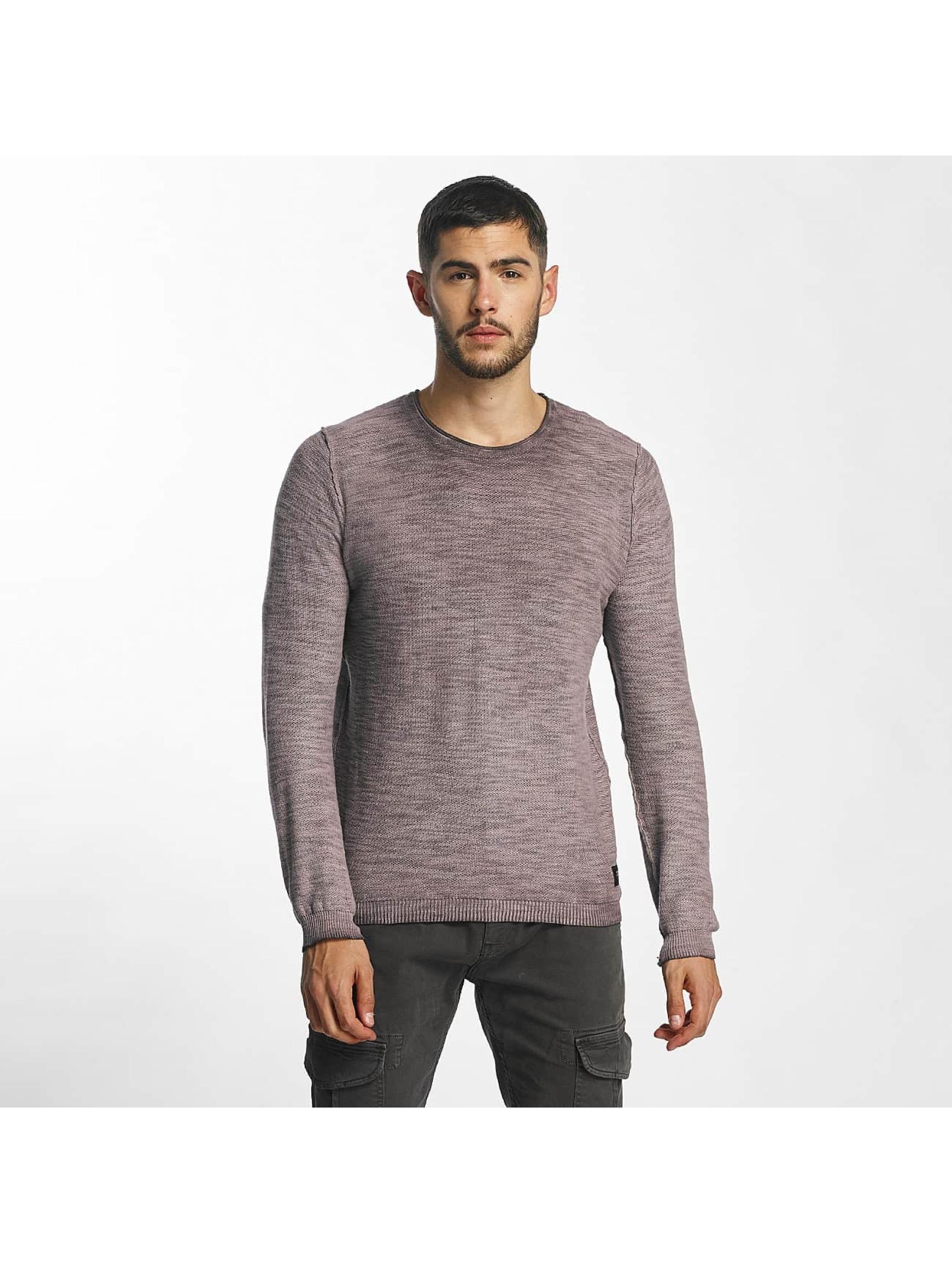 Solid Männer Pullover Karli Knit in violet