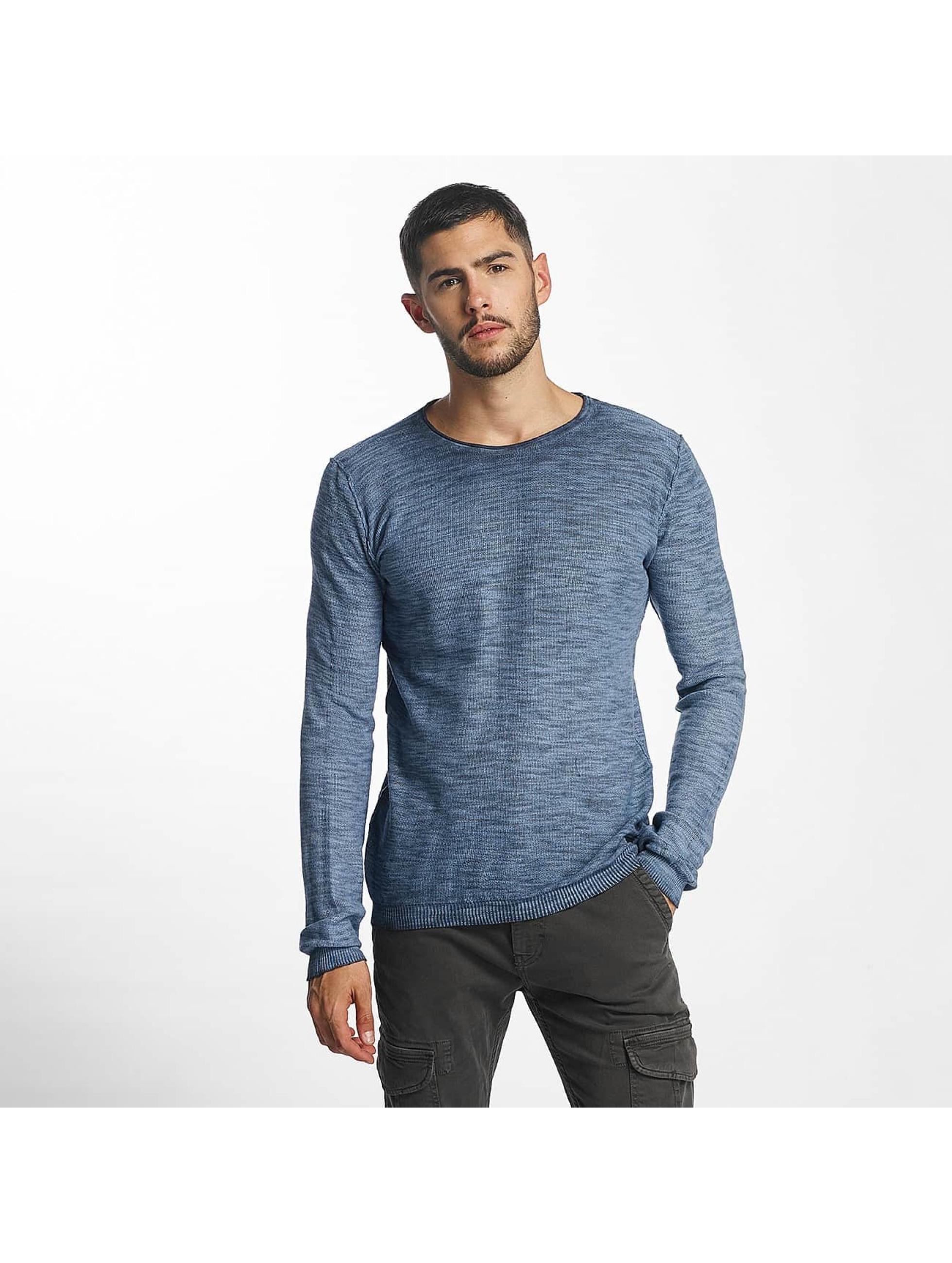 Solid Männer Pullover Karli Knit in blau