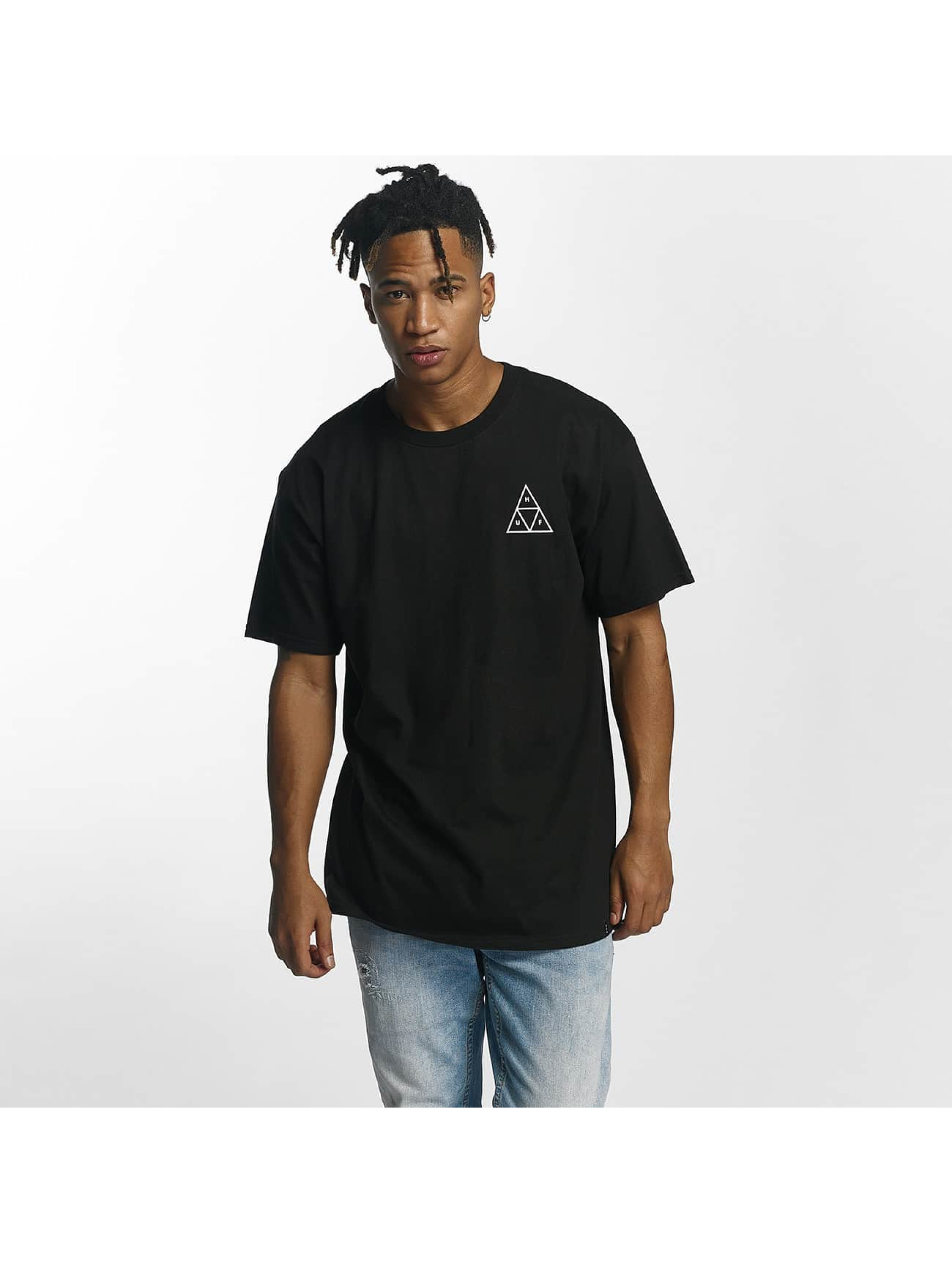 HUF Männer T-Shirt Roses Triple Triangle in schwarz