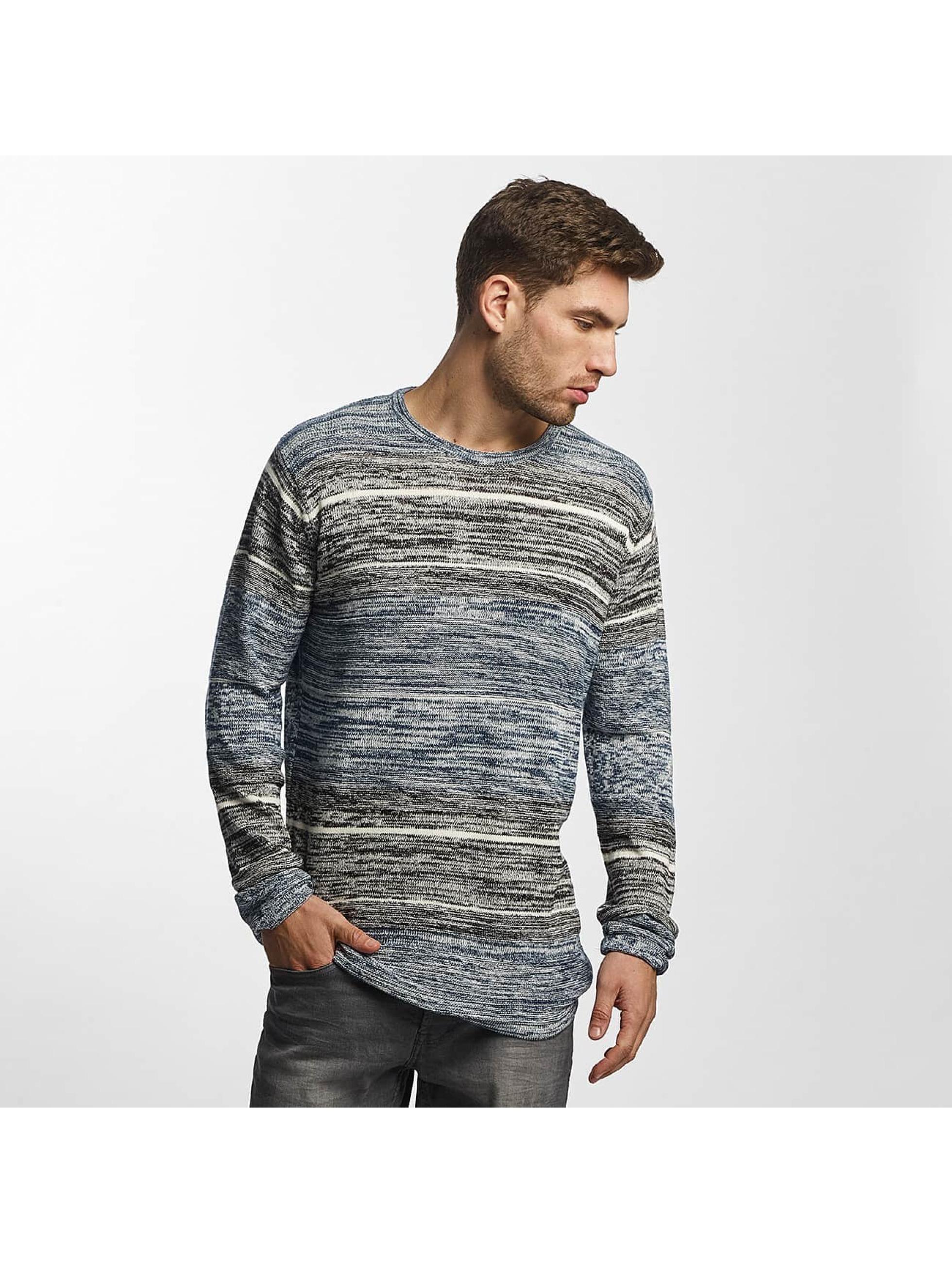 Solid Männer Pullover Kamal Knit in blau