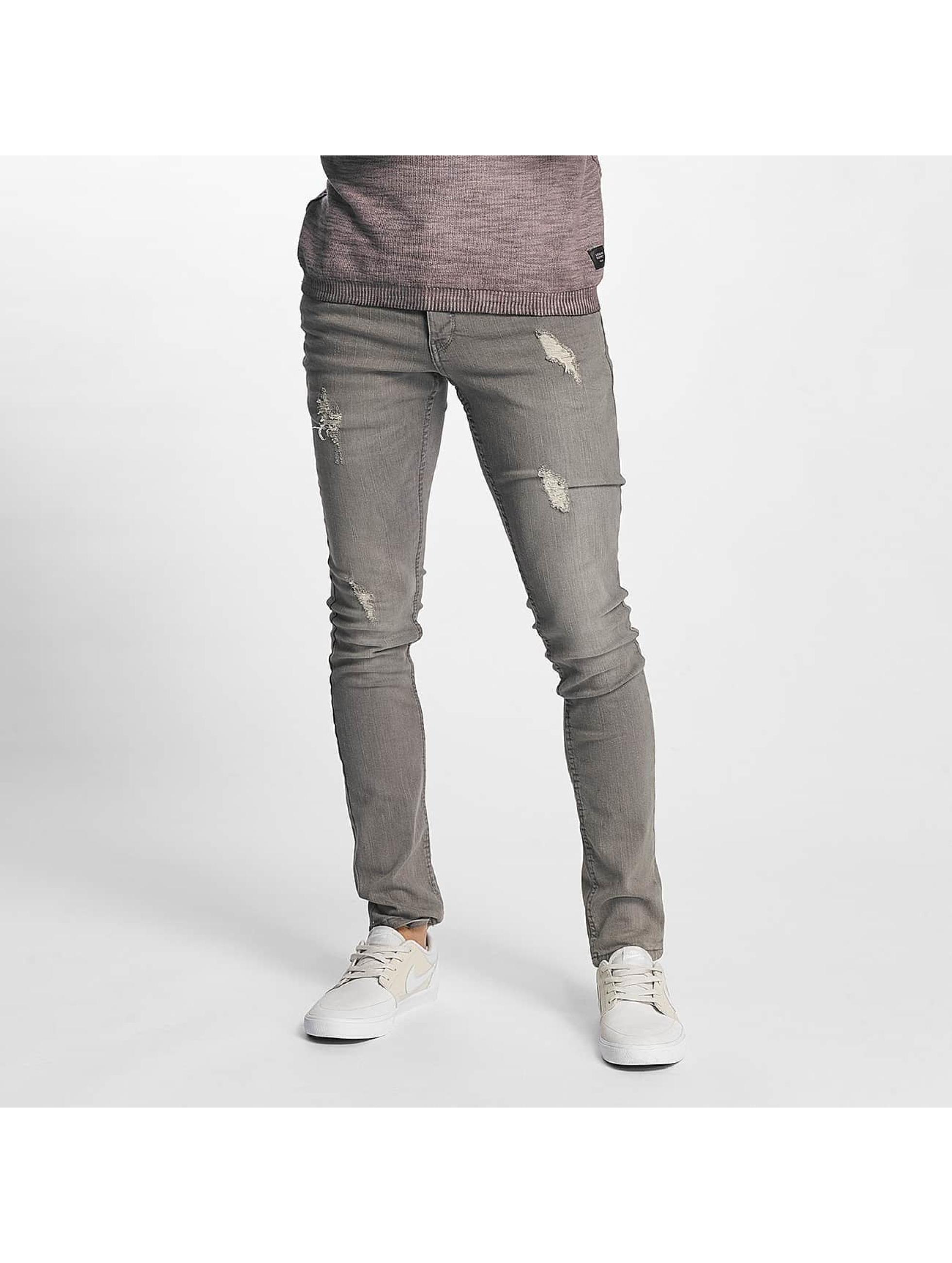 Solid Männer Skinny Jeans Dexter in grau
