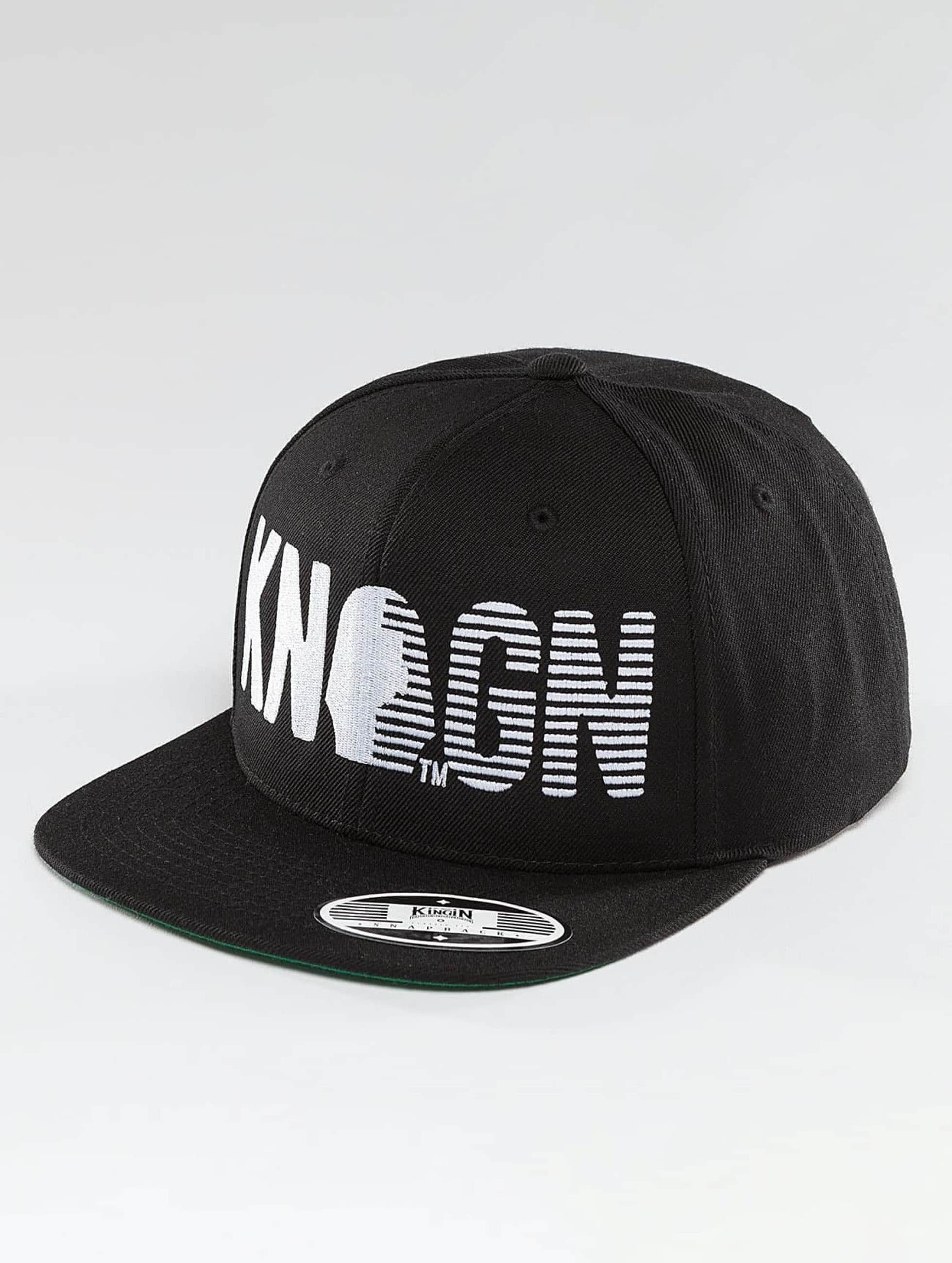 Kingin Männer,Frauen Snapback Cap Logo in schwarz