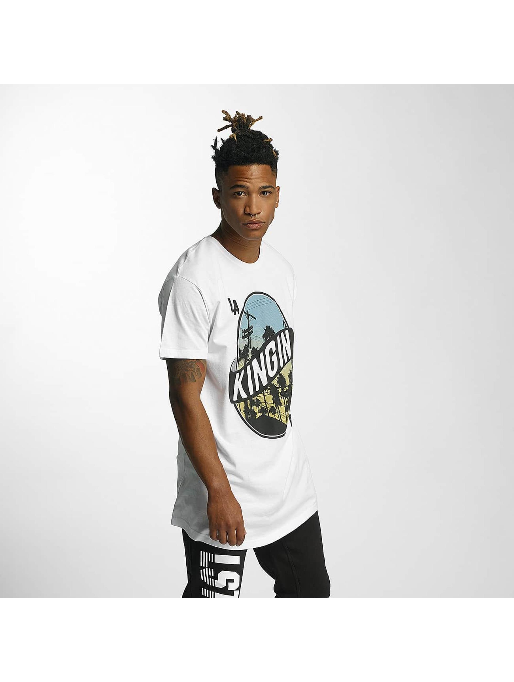 Kingin Männer T-Shirt LA Streets in weiß