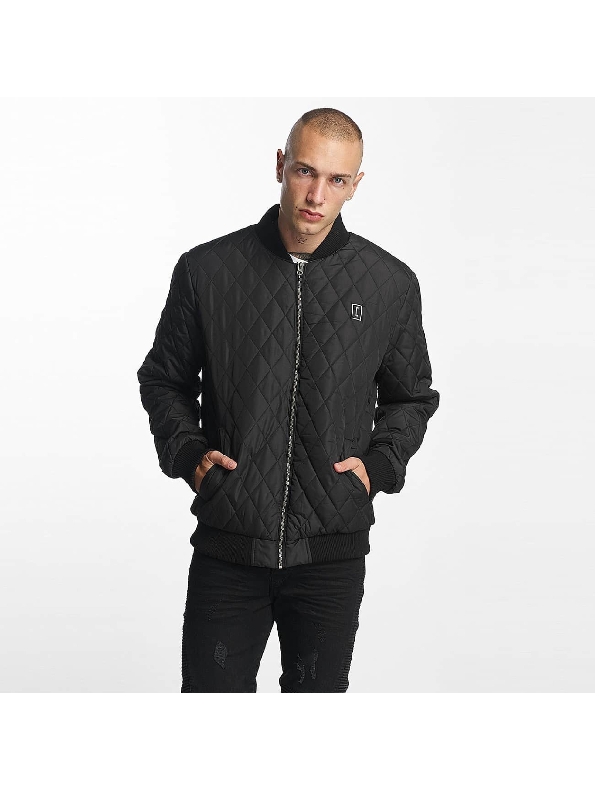Cyprime Männer Bomberjacke Quilted in schwarz
