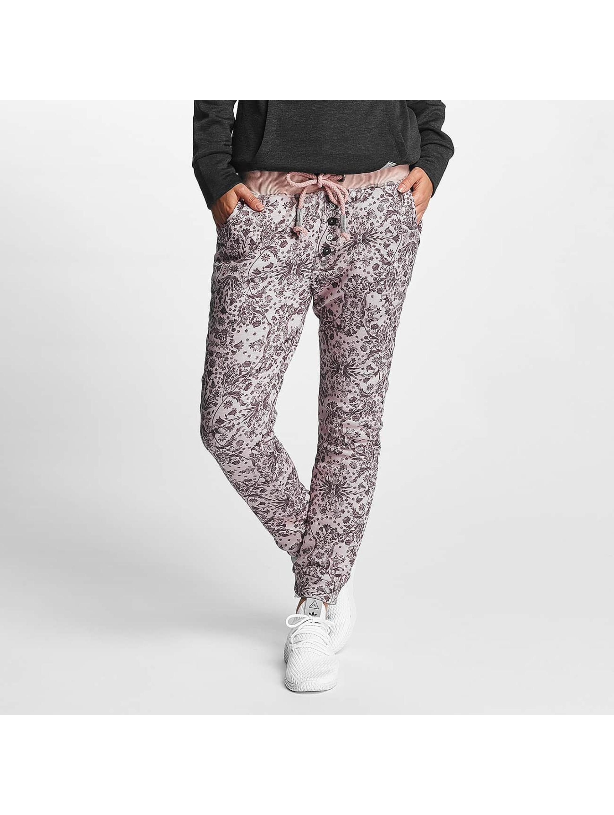 Sublevel Frauen Jogginghose Allover Printed in rosa