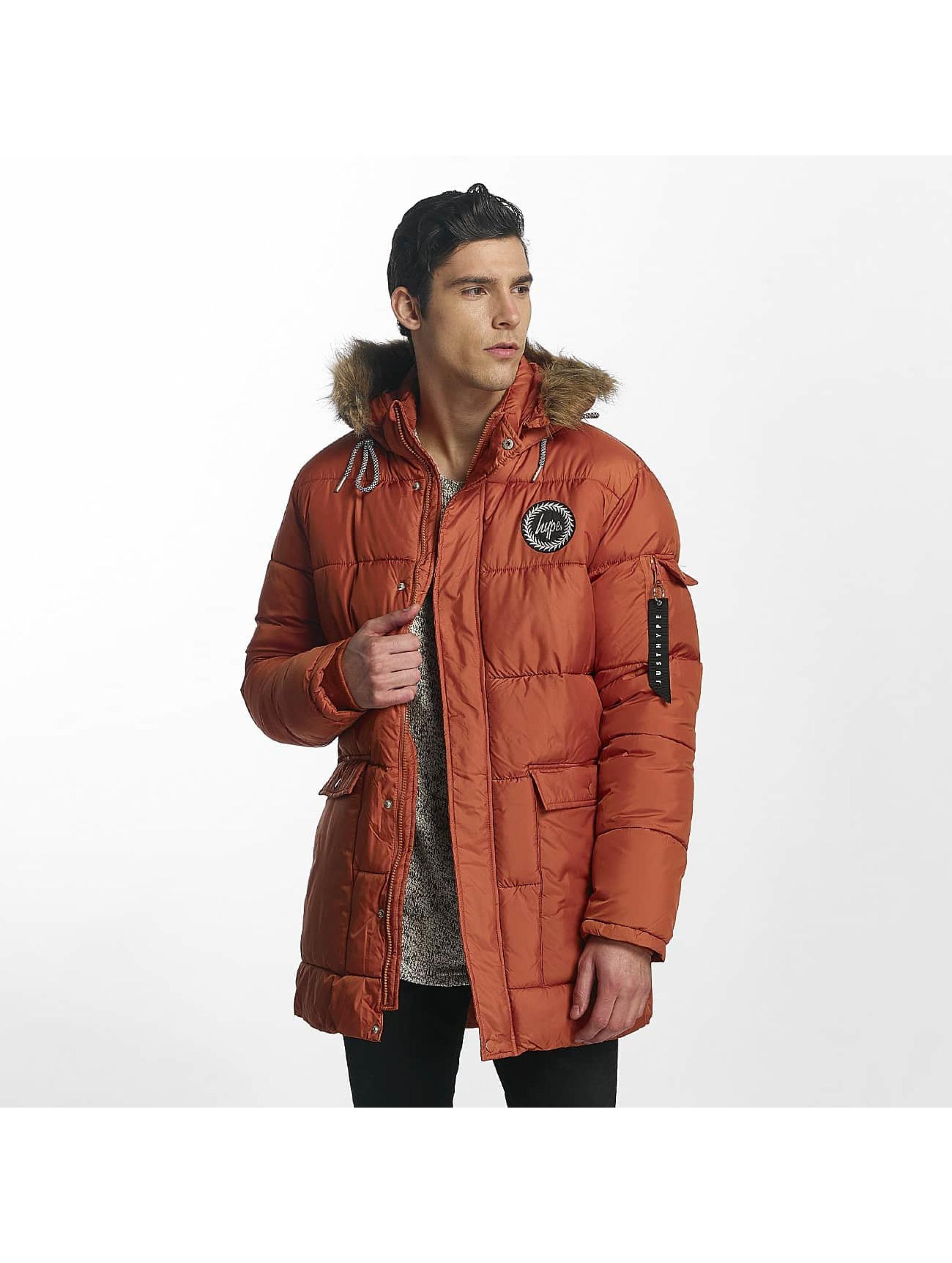 HYPE Männer Winterjacke Explorer Puffa in orange