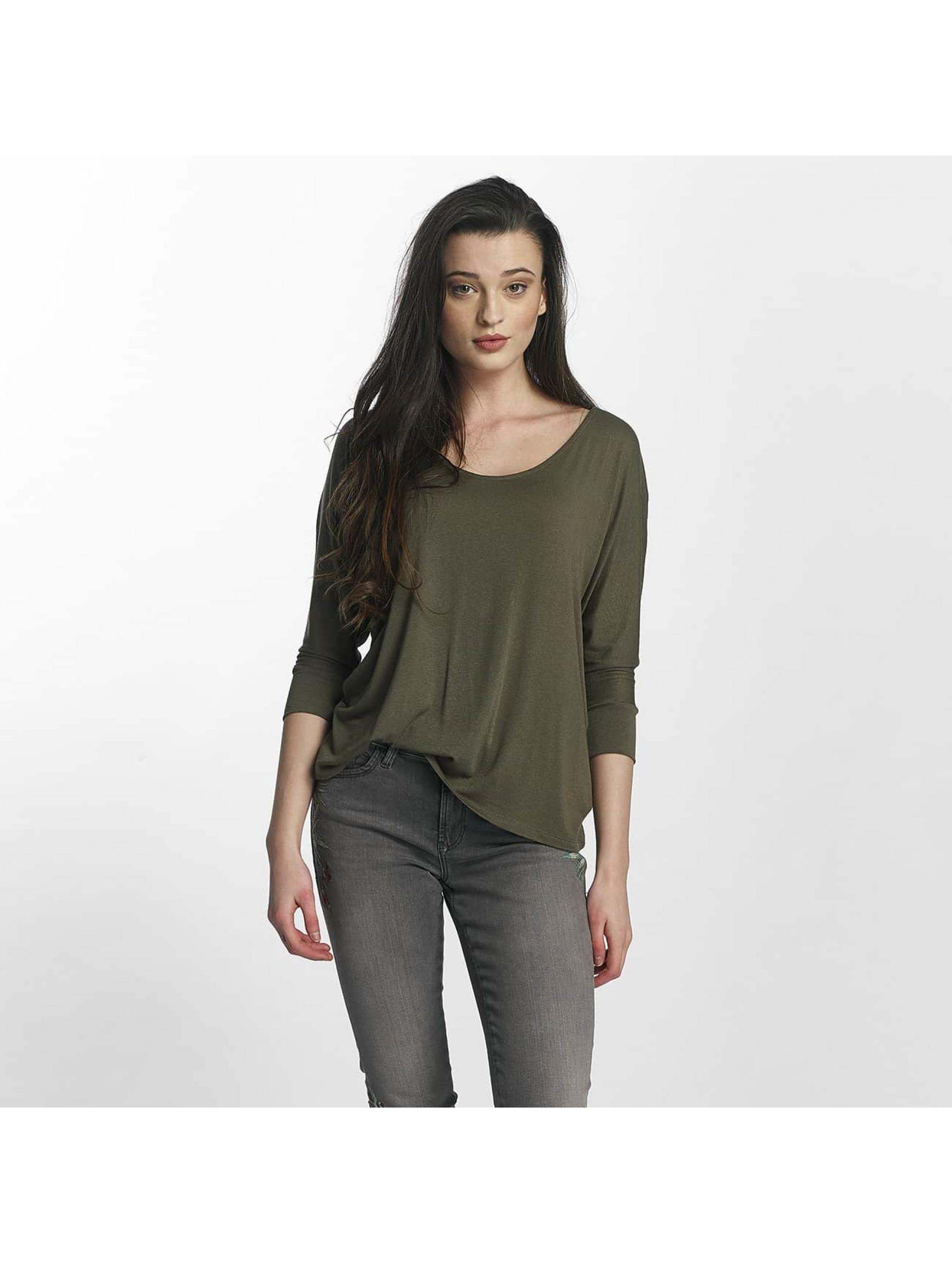 Mavi Jeans Frauen Longsleeve Basic Zip in grün