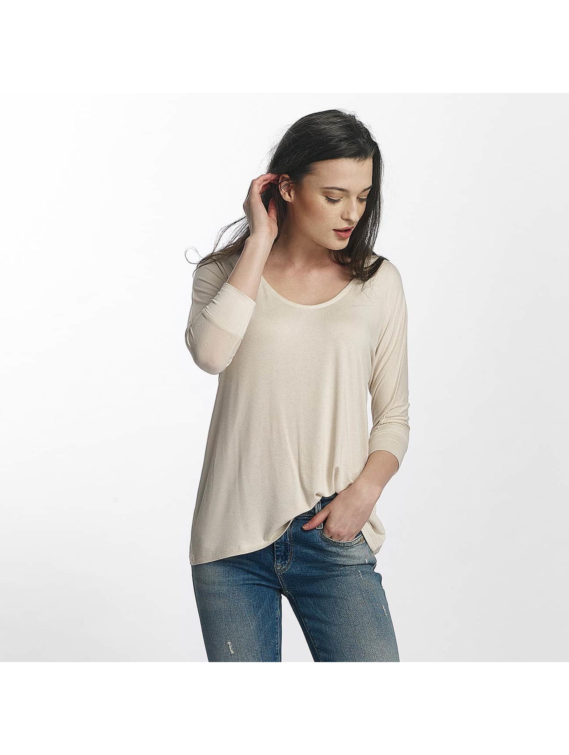 Mavi Jeans Frauen Longsleeve Basic Zip in weiß