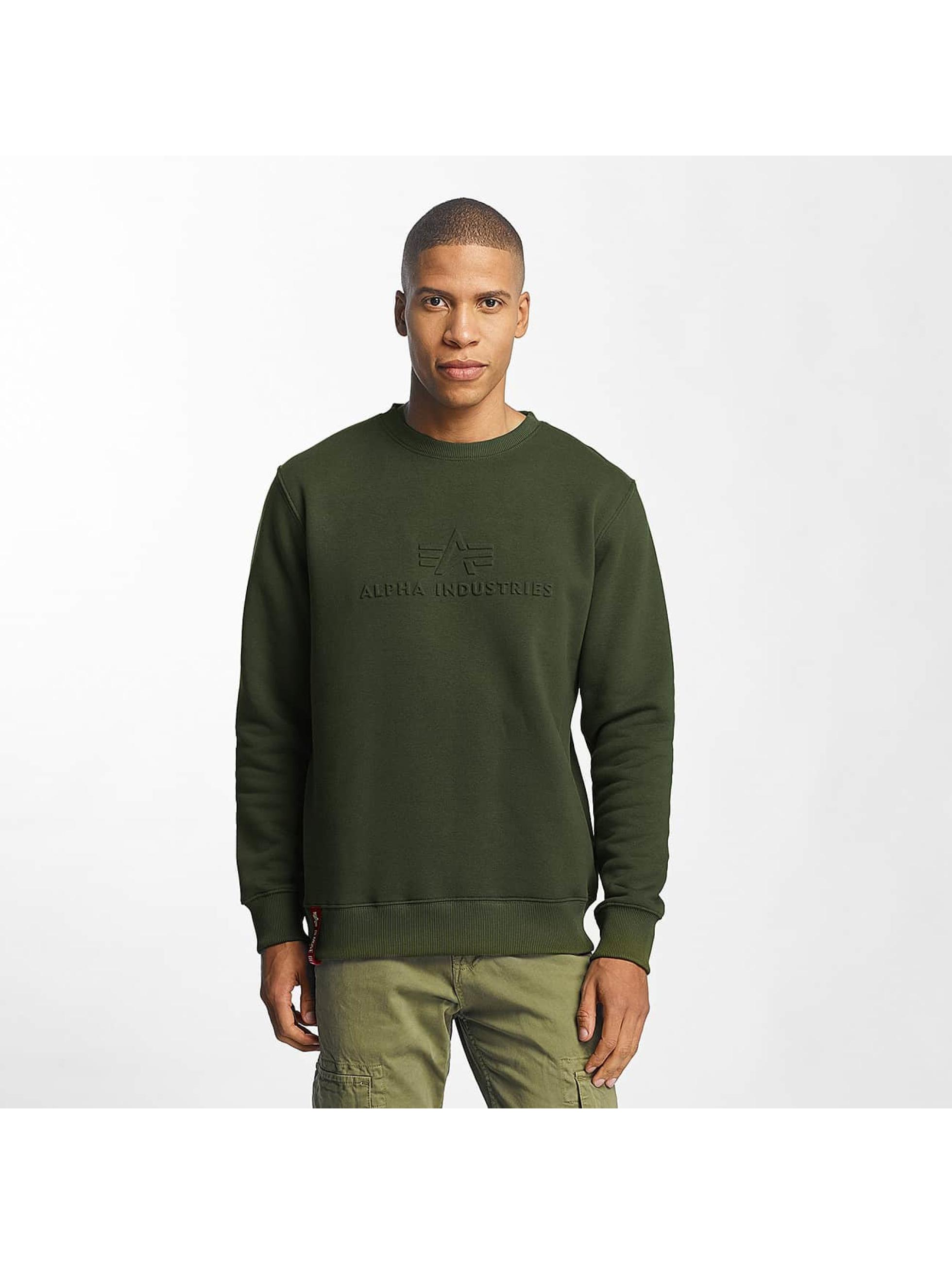 Alpha Industries Männer Pullover 3D in grün