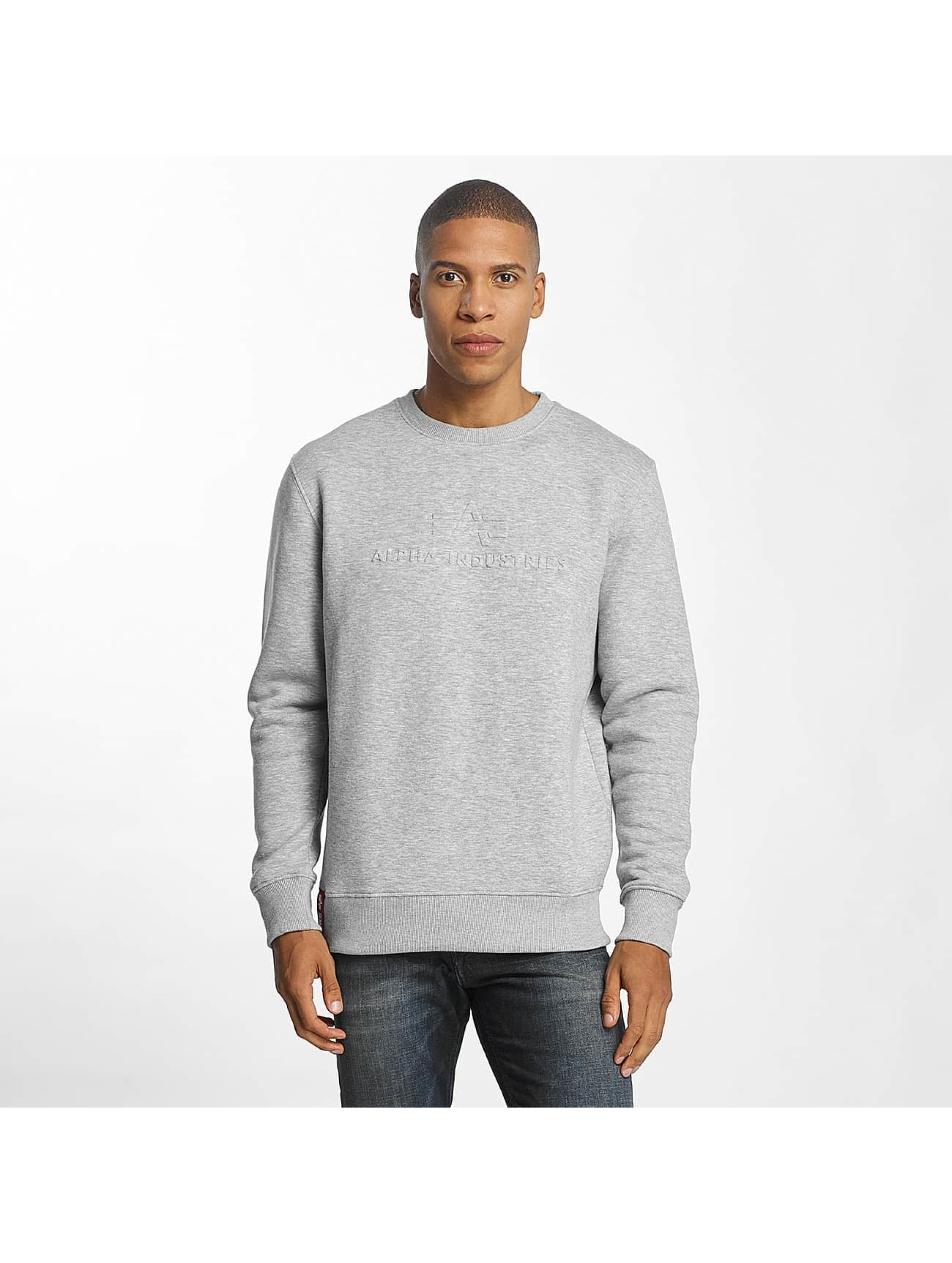 Alpha Industries Männer Pullover 3D in grau