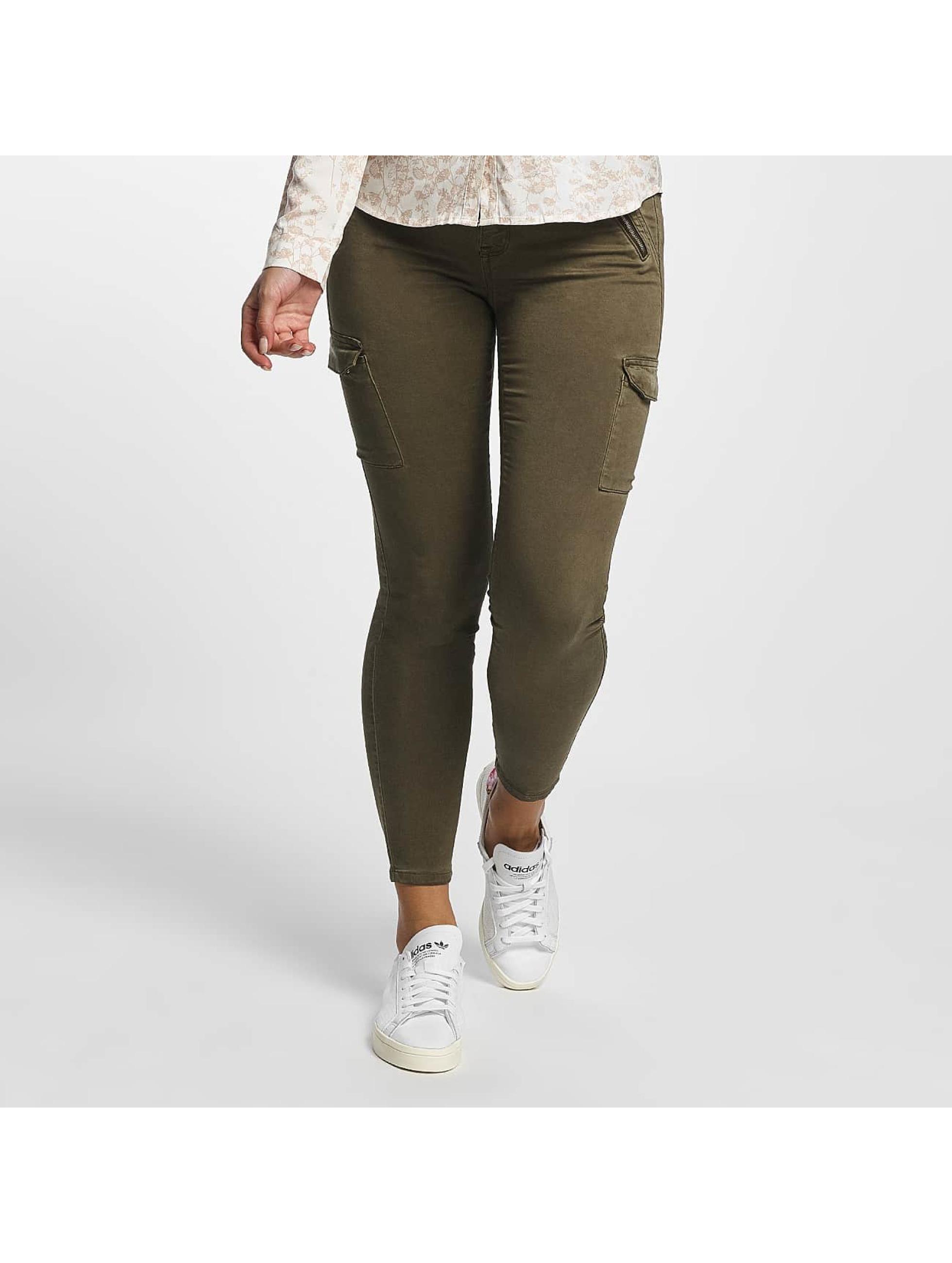 Mavi Jeans Frauen Cargohose Adriana Ankle in olive