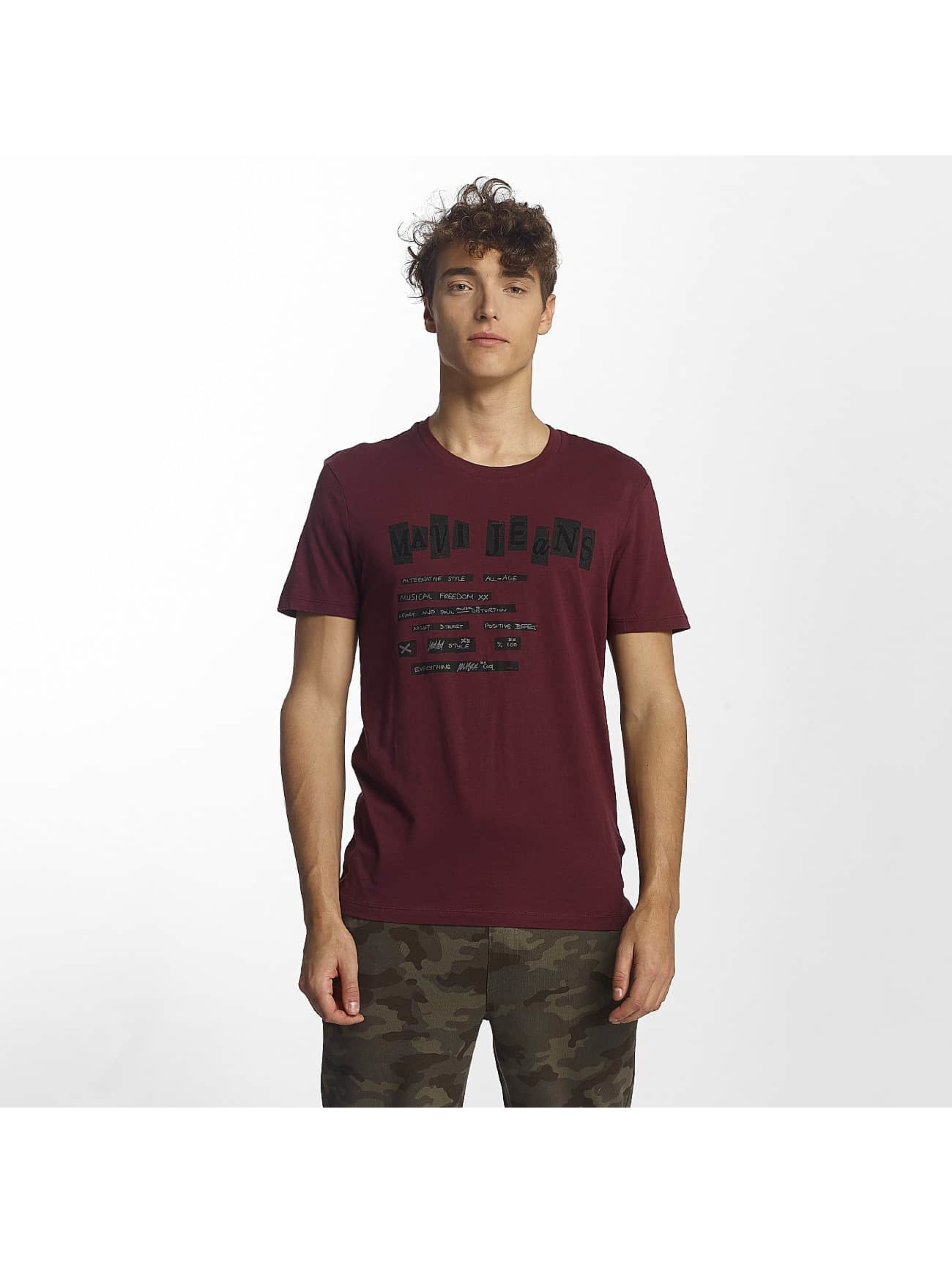 Mavi Jeans Männer T-Shirt Influence Graphic in violet