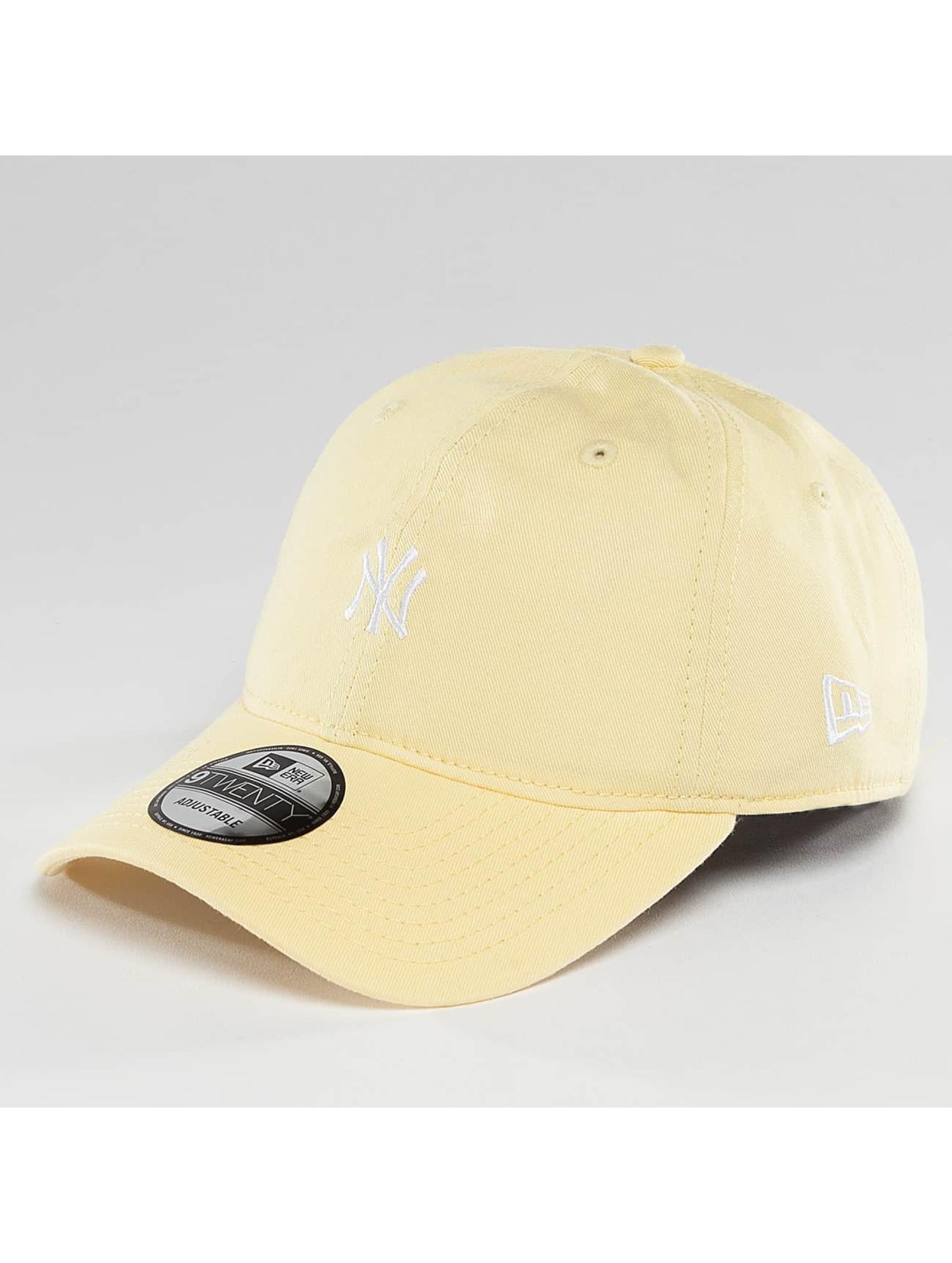 New Era Männer,Frauen Snapback Cap Pastel Micro NY Yankees 9Twenty in gelb