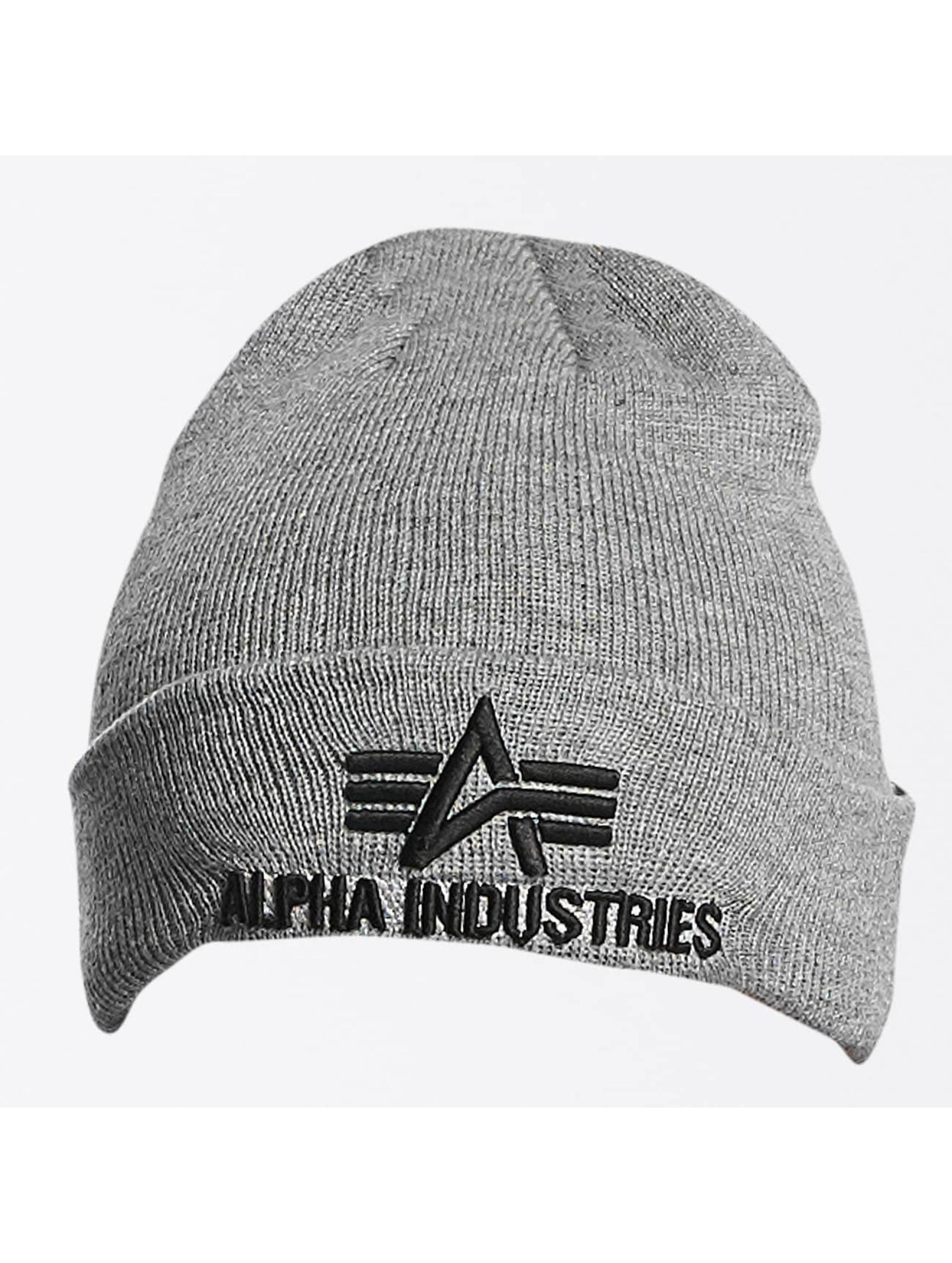 Alpha Industries Männer,Frauen Beanie 3D in grau