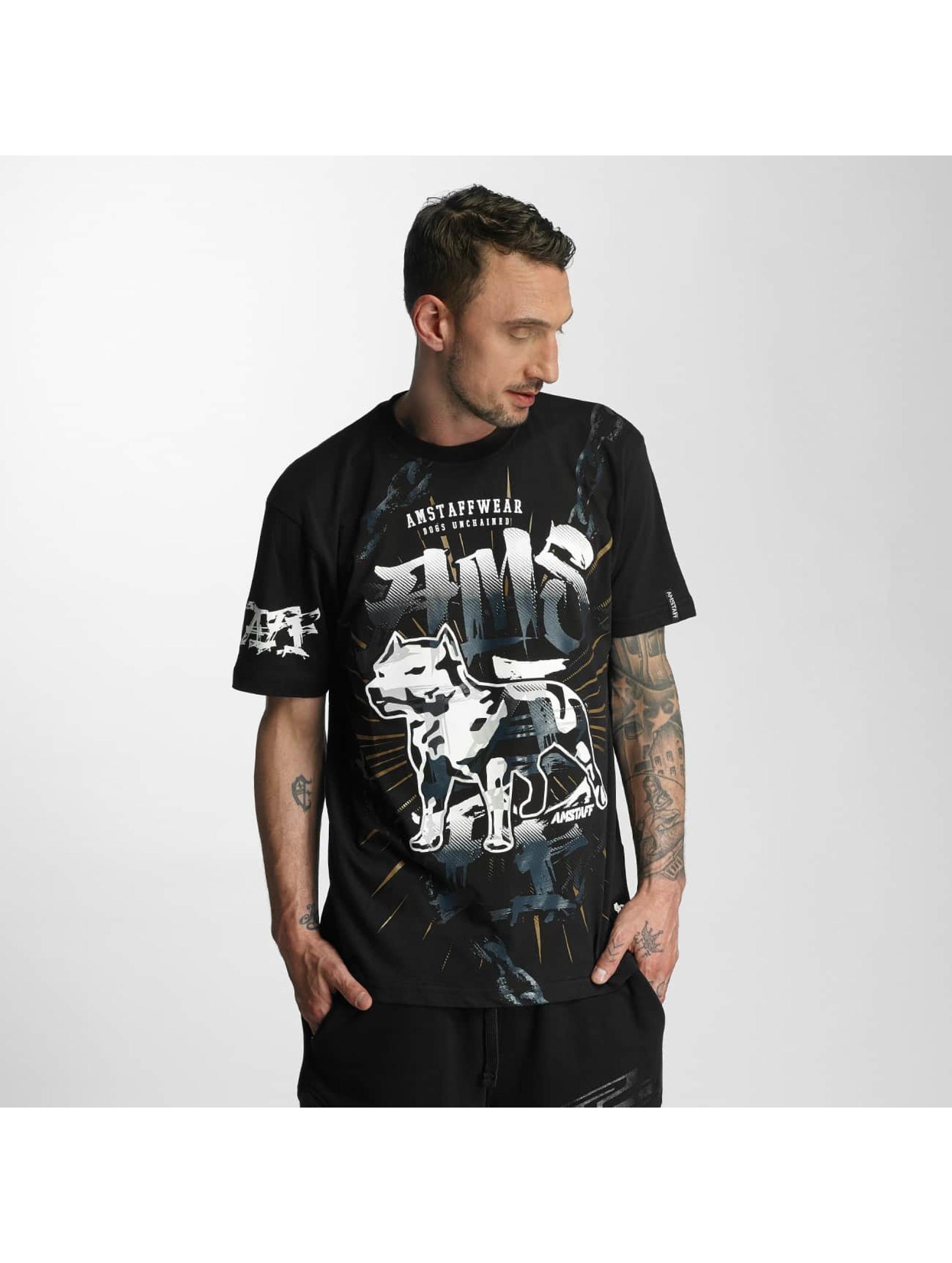Amstaff Männer T-Shirt Unchained 2 in schwarz
