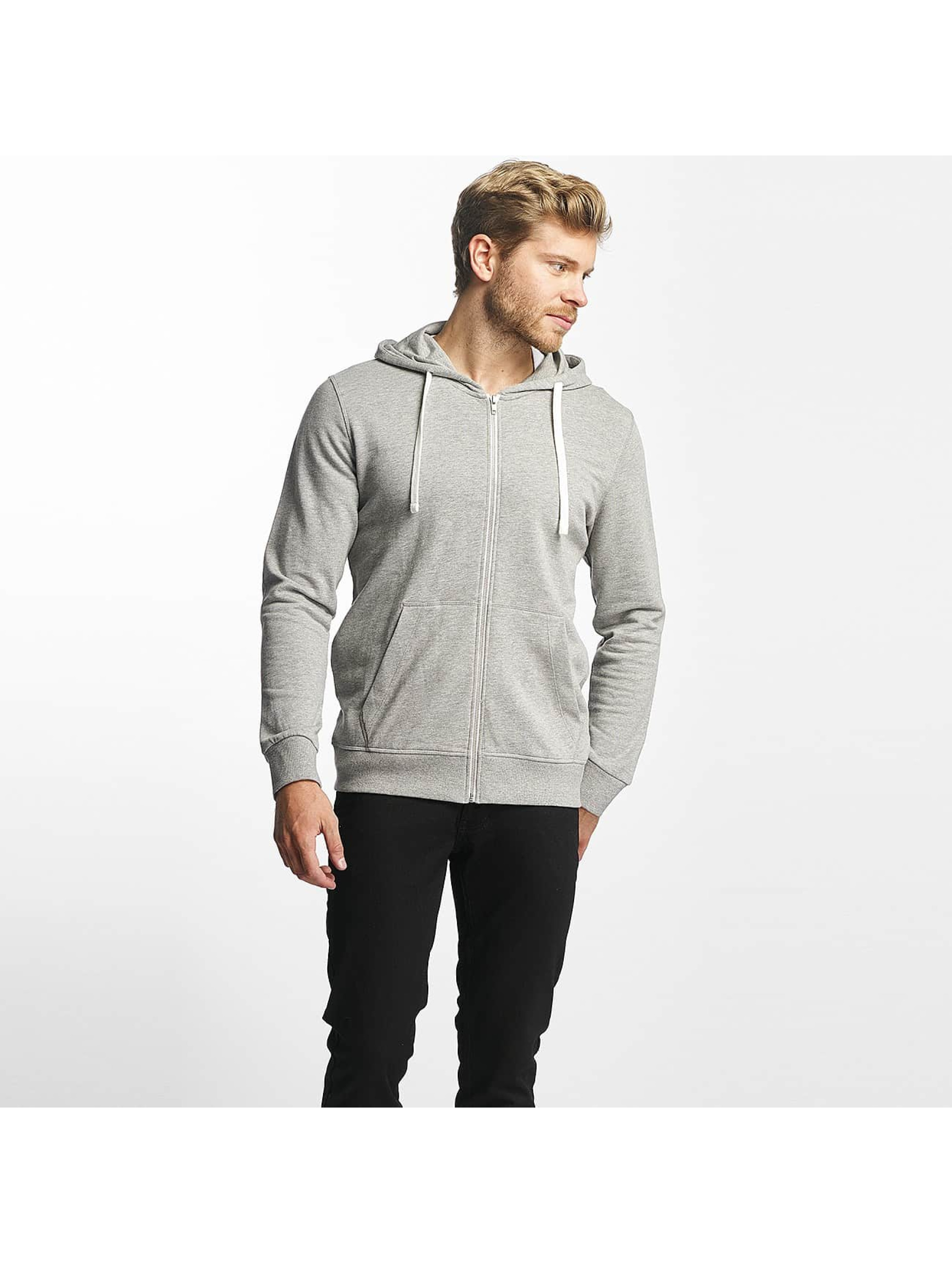 Jack & Jones Herren Sweatjacke Jorholmen light grey melange - broschei