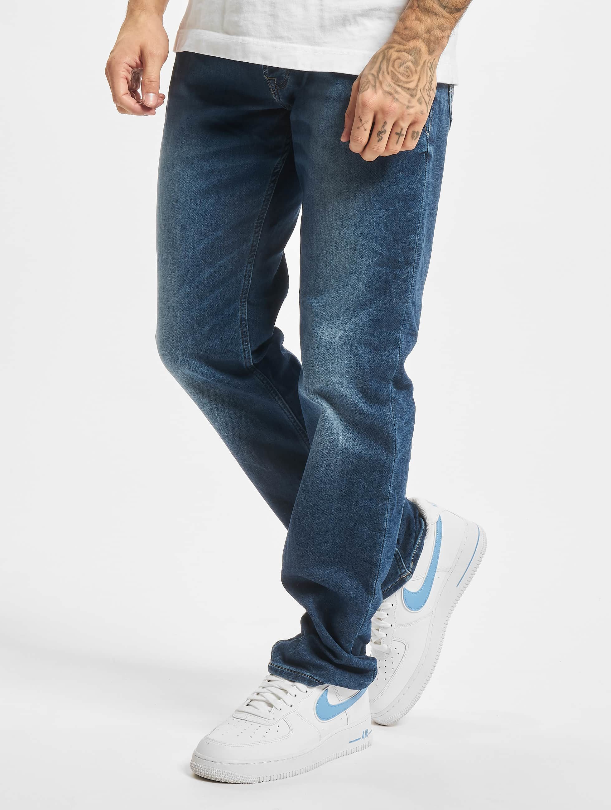 Jack & Jones Männer Loose Fit Jeans jjTim jjLeon GE 382 in blau