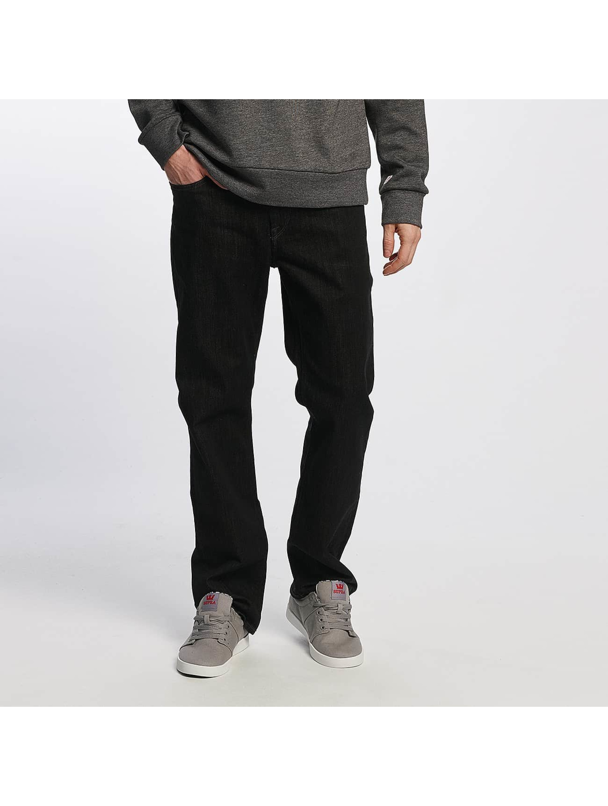 Volcom Männer Straight Fit Jeans Kinkade Denim in schwarz
