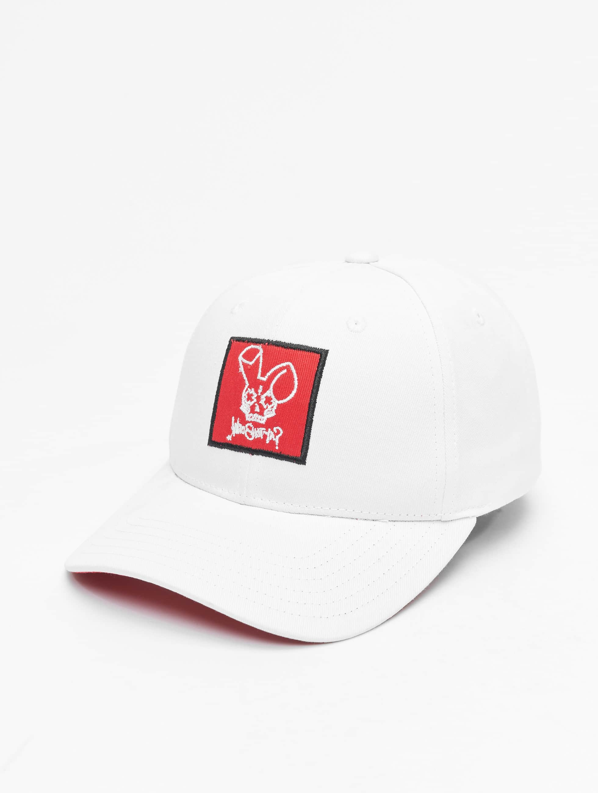 Who Shot Ya? Männer Fitted Cap Daddy Fit in weiß