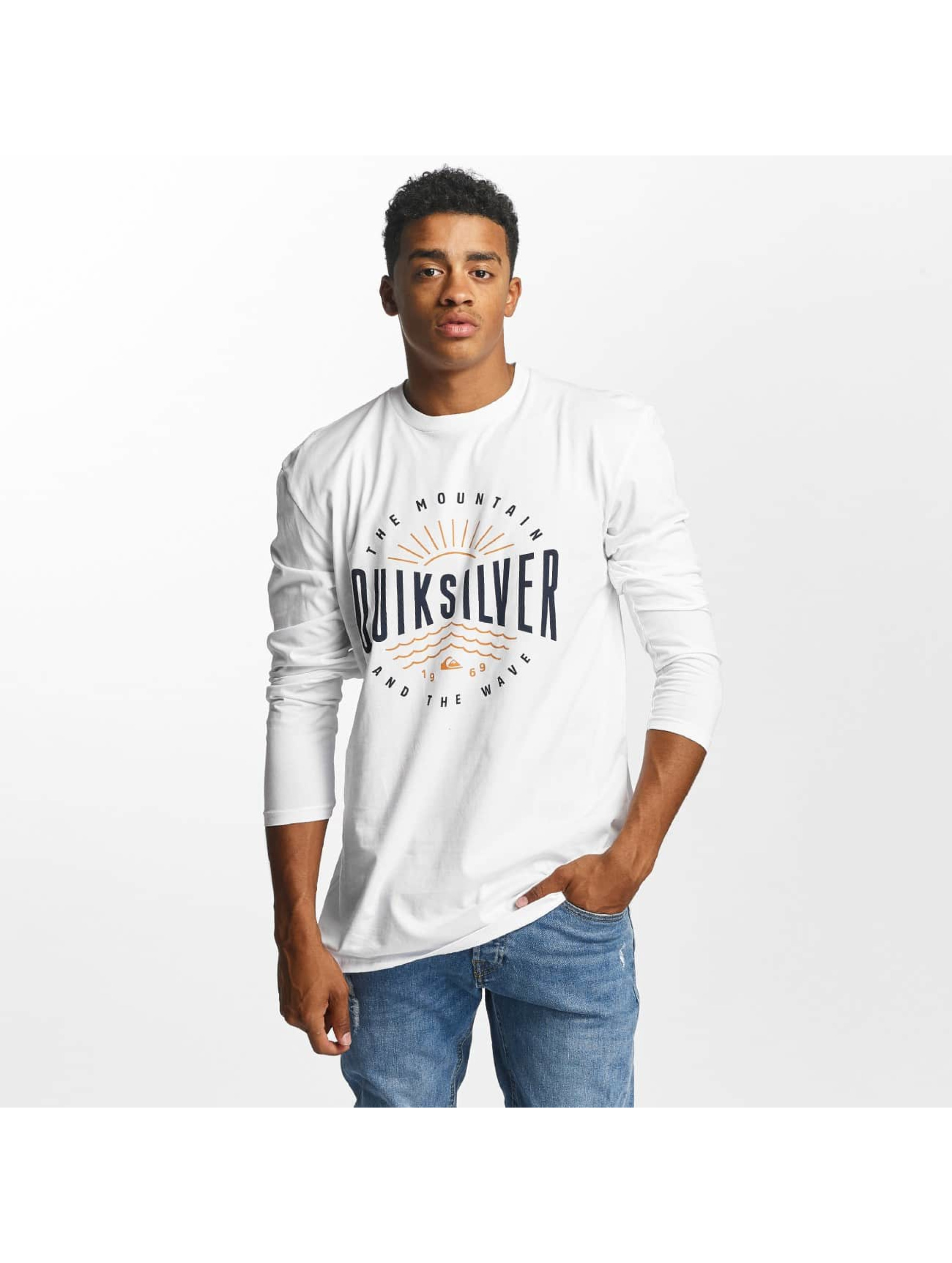 Quiksilver Männer Longsleeve Classic Mad Wave in weiß