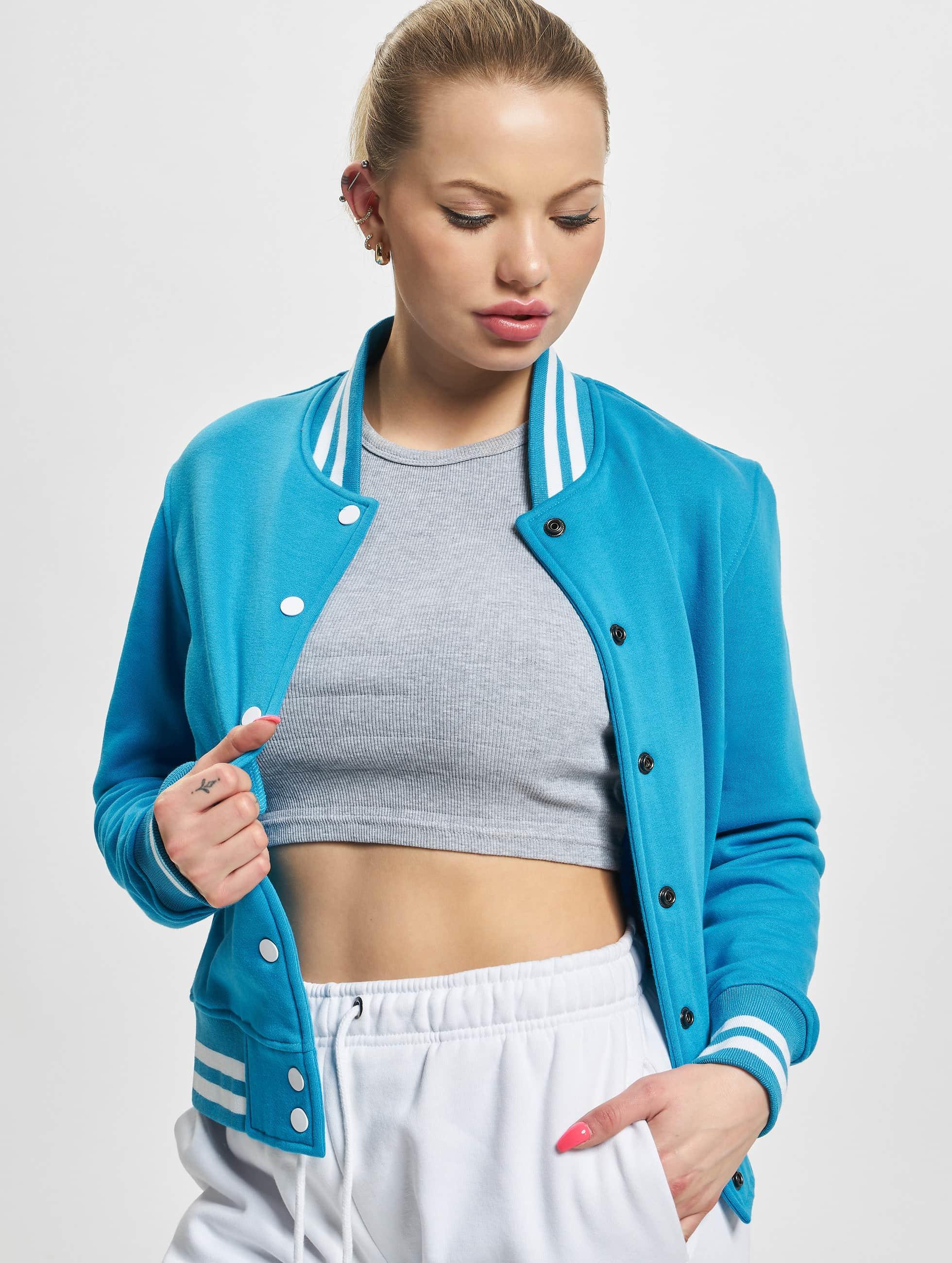 Urban Classics Frauen College Jacke Ladies in türkis