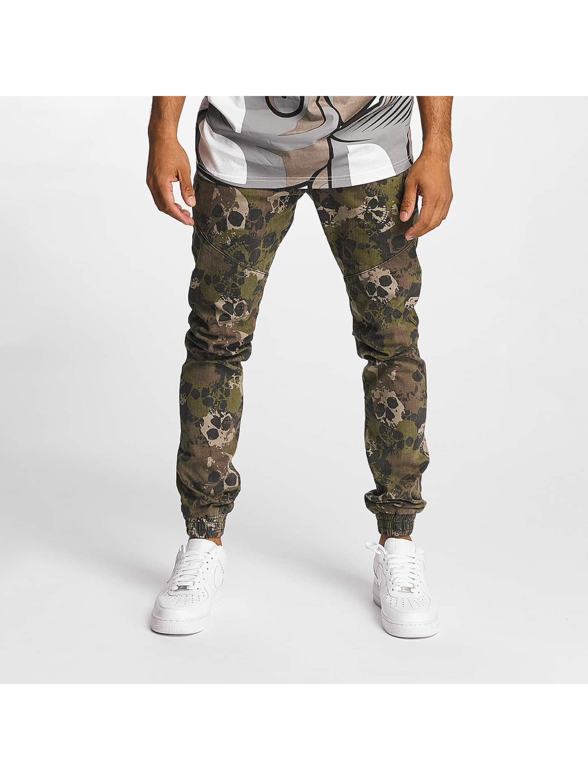 Dangerous DNGRS / Slim Fit Jeans Skullcamo in camouflage W 40