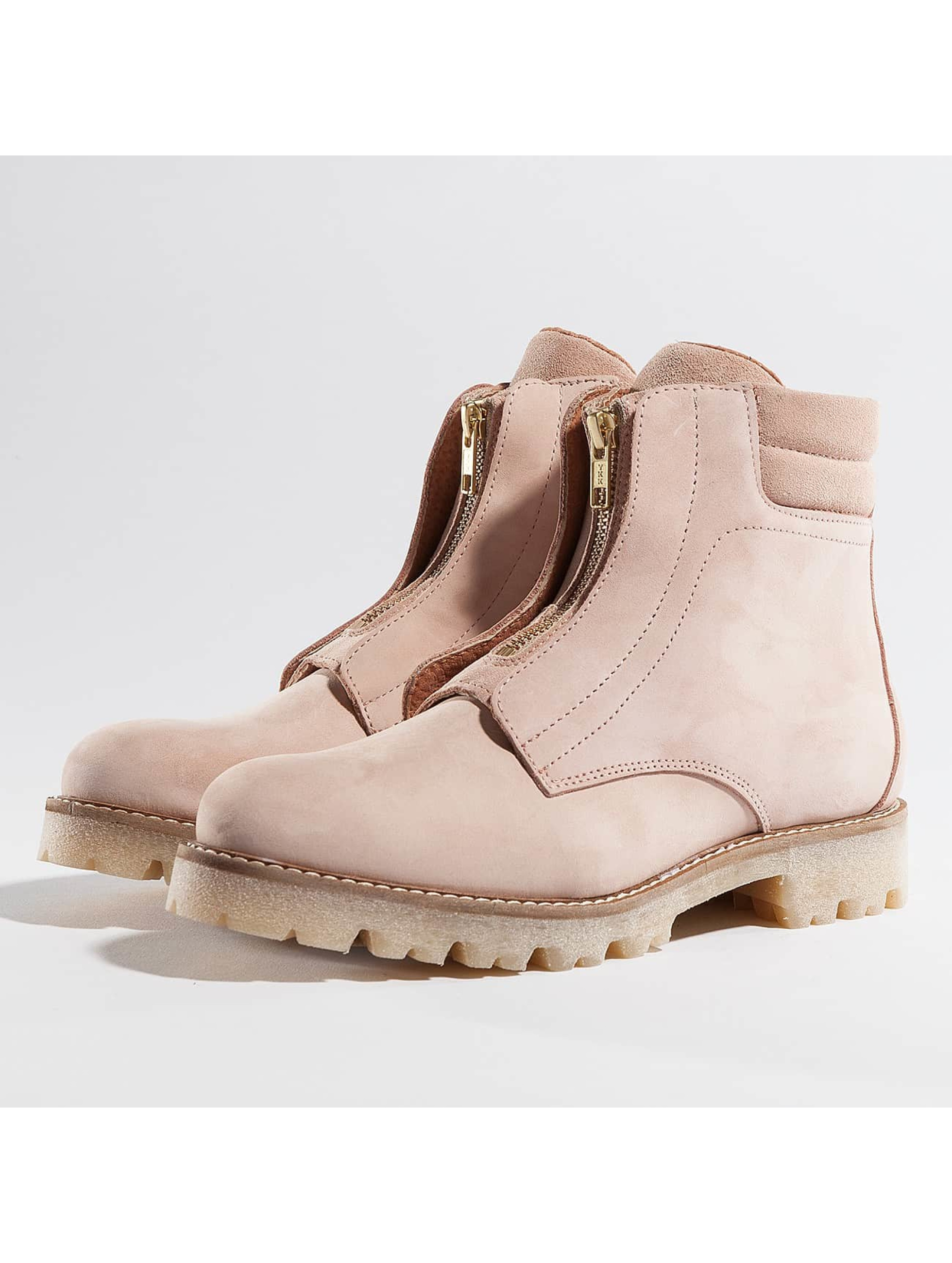 Pieces Frauen Boots psPamelina Nubuck in rosa