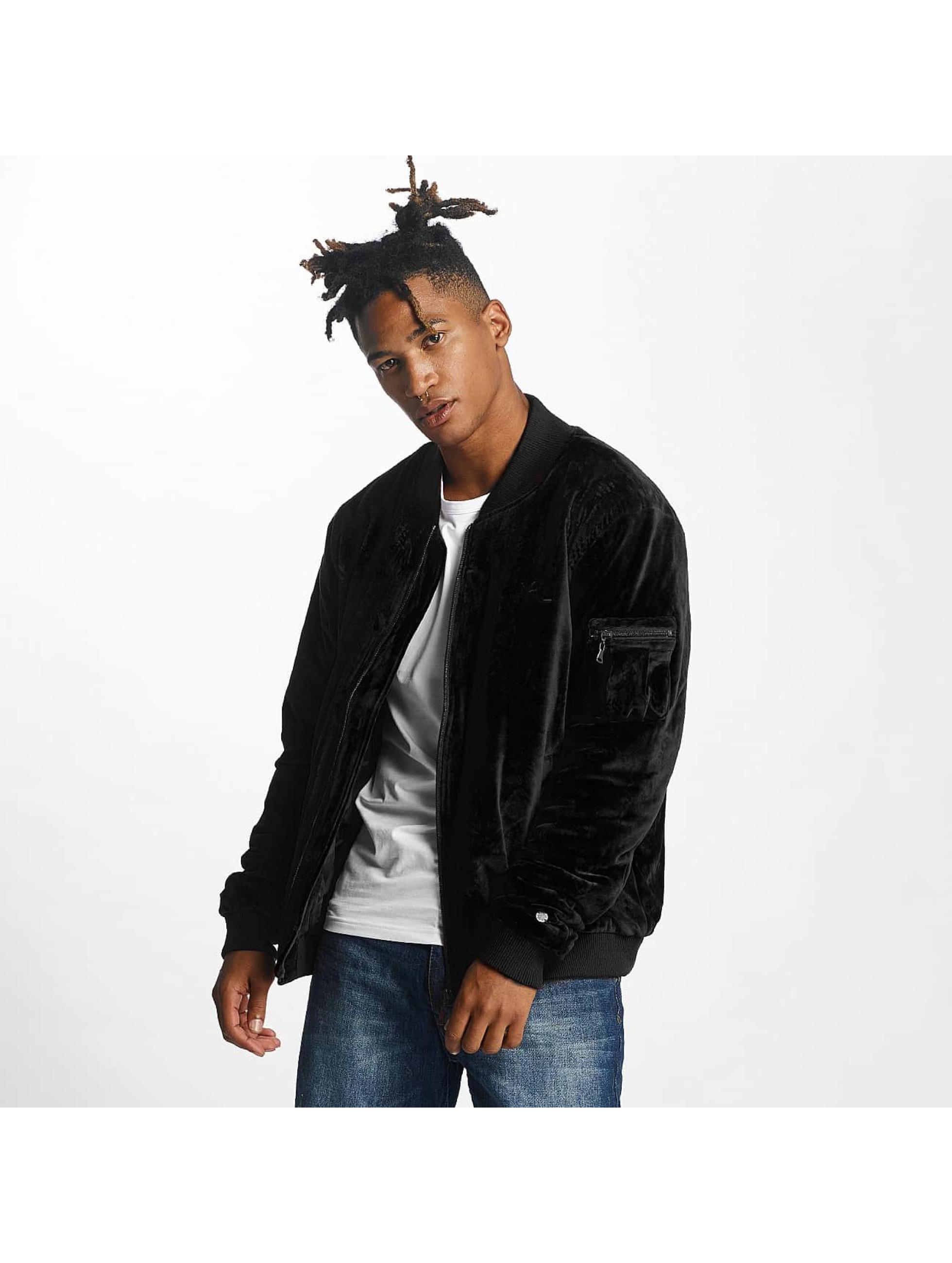 Rocawear / Bomber jacket Retro Velour in black XL