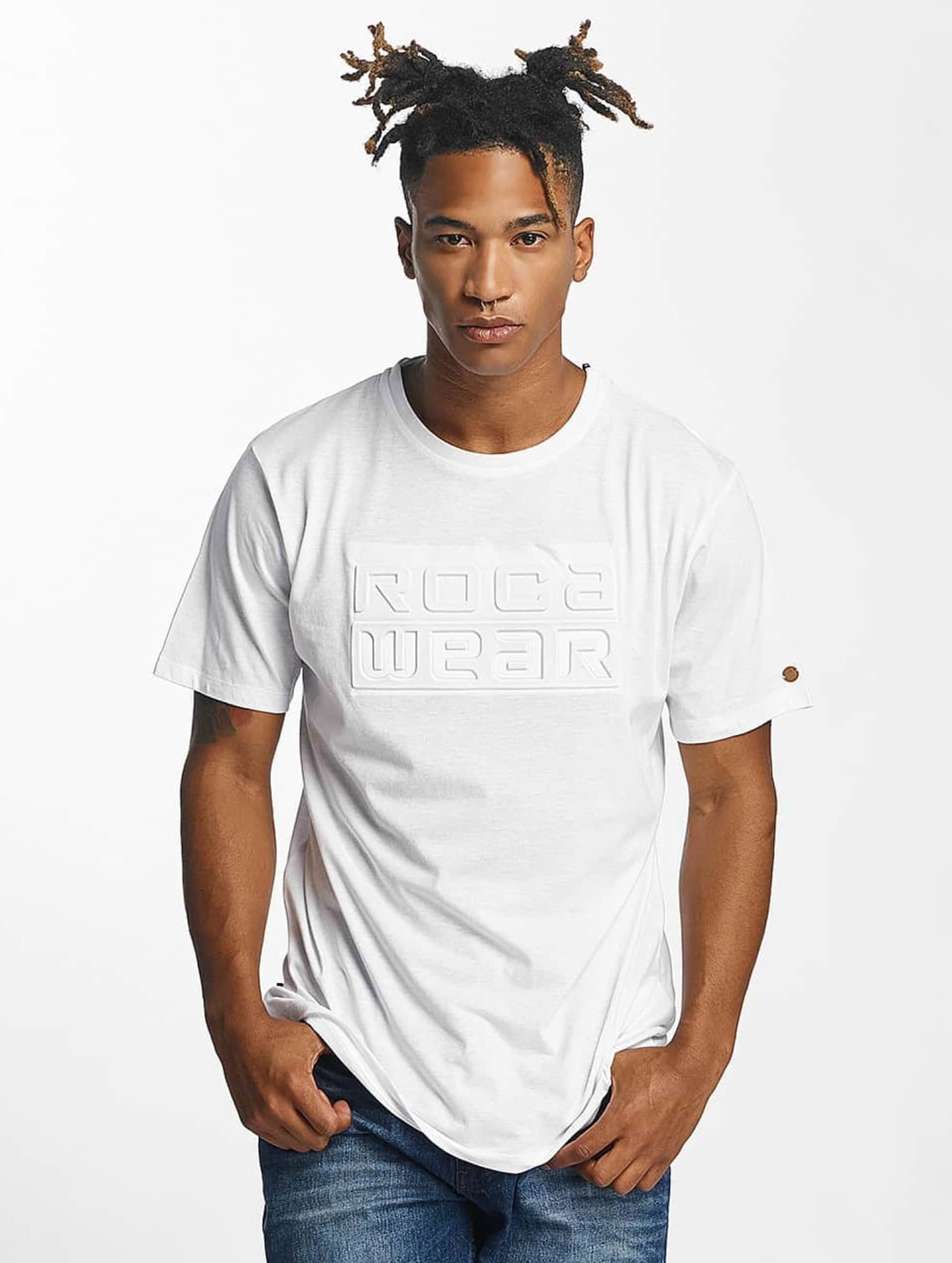 Rocawear / T-Shirt Embossing in white 3XL