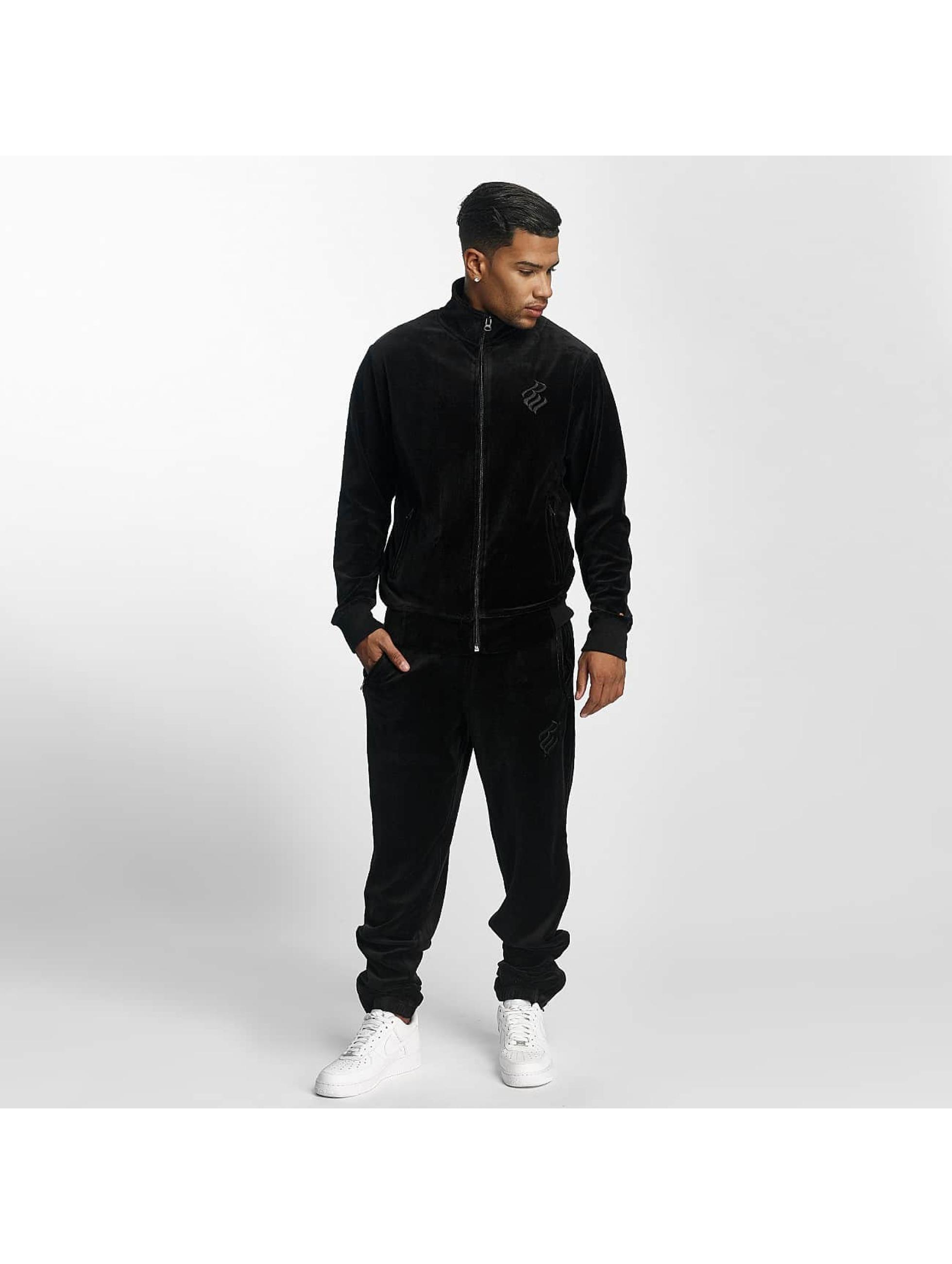 Rocawear Männer Anzug Retro Basic Velour Set in schwarz