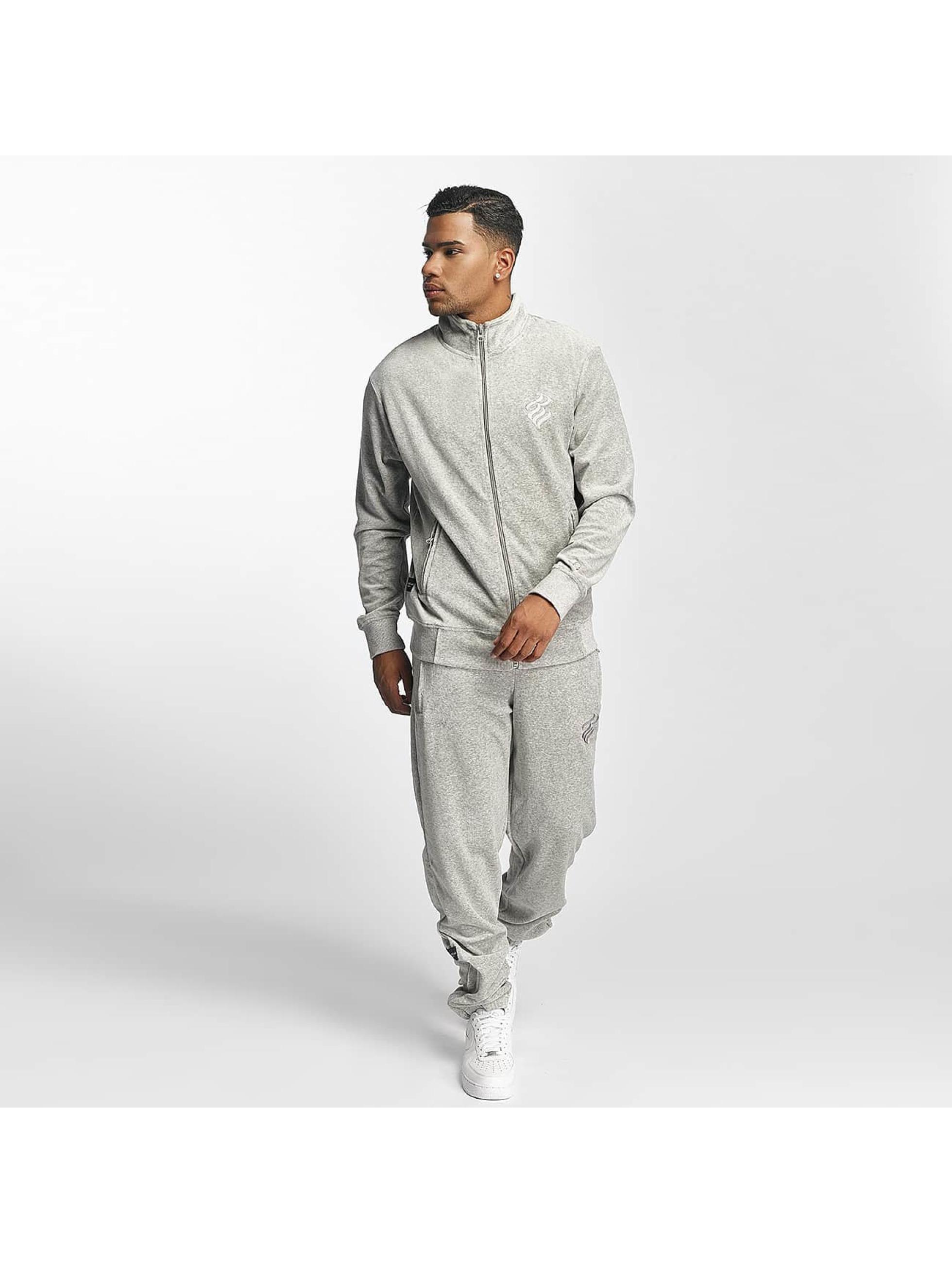 Rocawear Männer Anzug Retro Basic Velour Set in grau