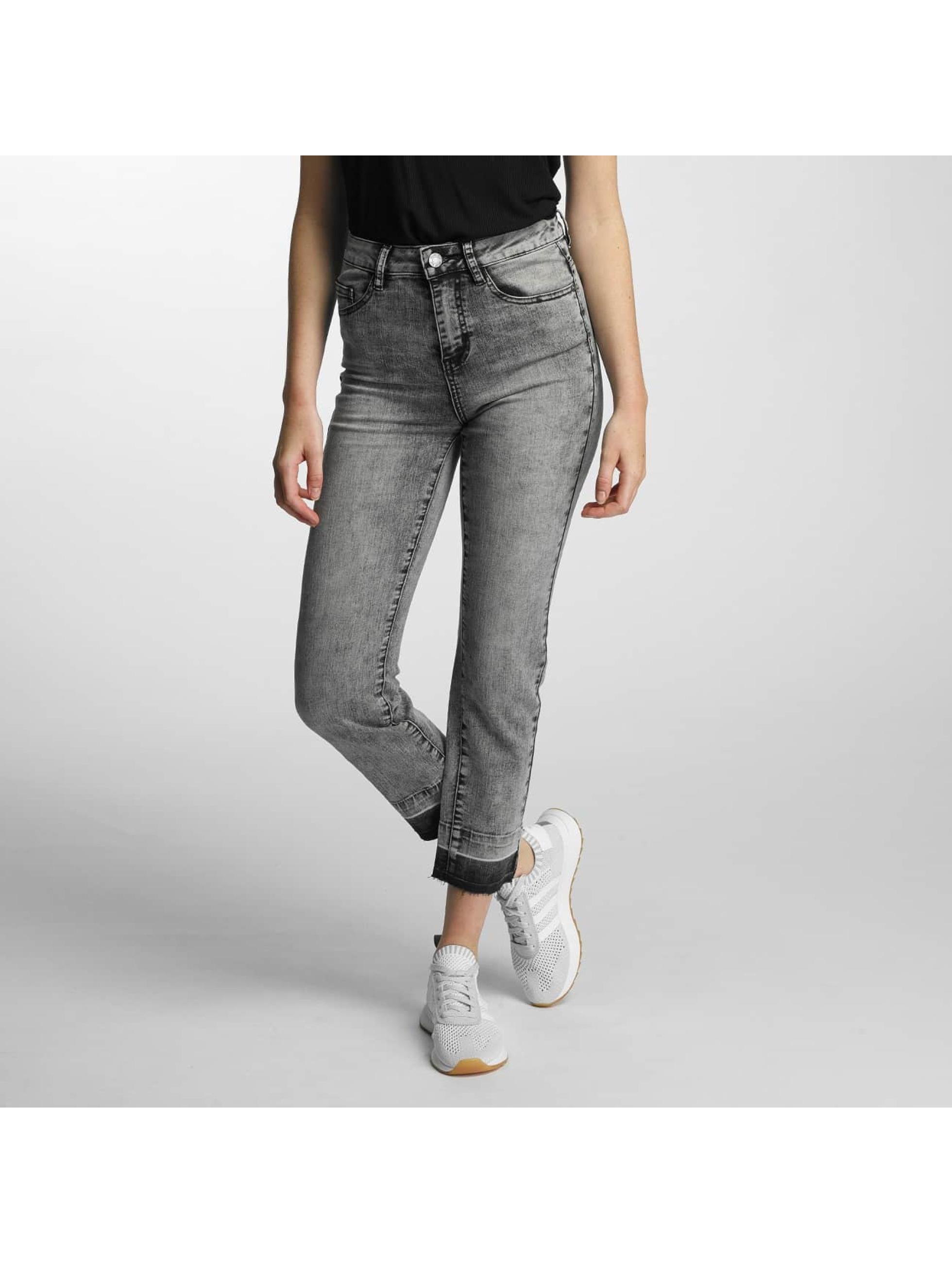 Noisy May Frauen High Waist Jeans nmTaylor in schwarz