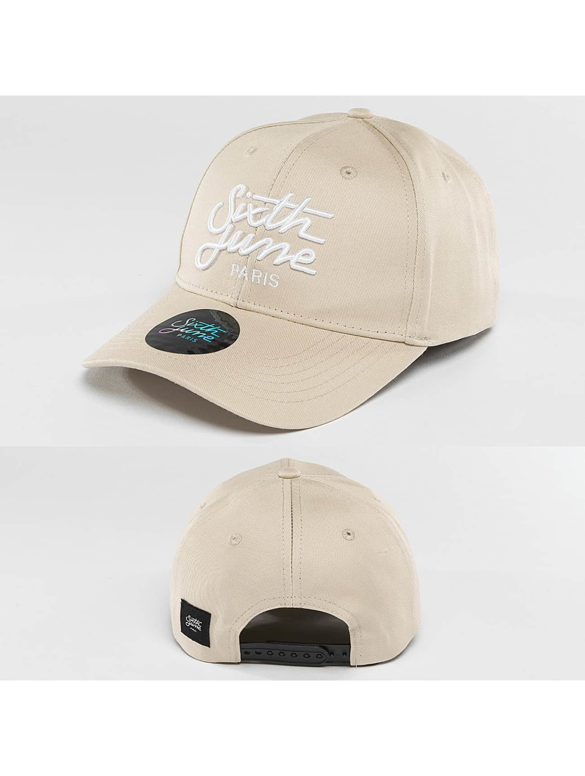 Sixth June Männer,Frauen Snapback Cap Curved Logo in beige Sale Angebote Laubsdorf