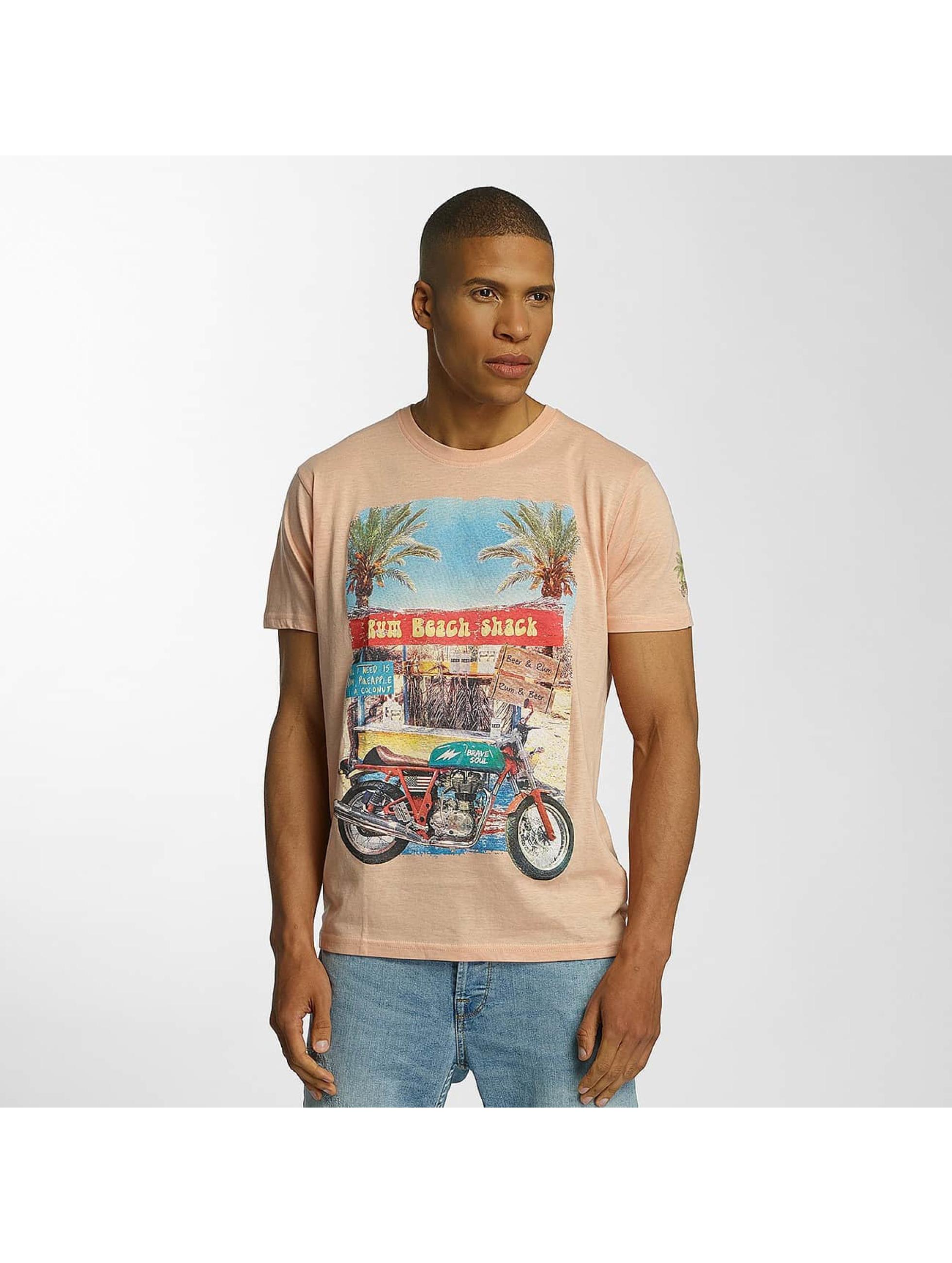 Brave Soul Männer T-Shirt Crew Neck in orange