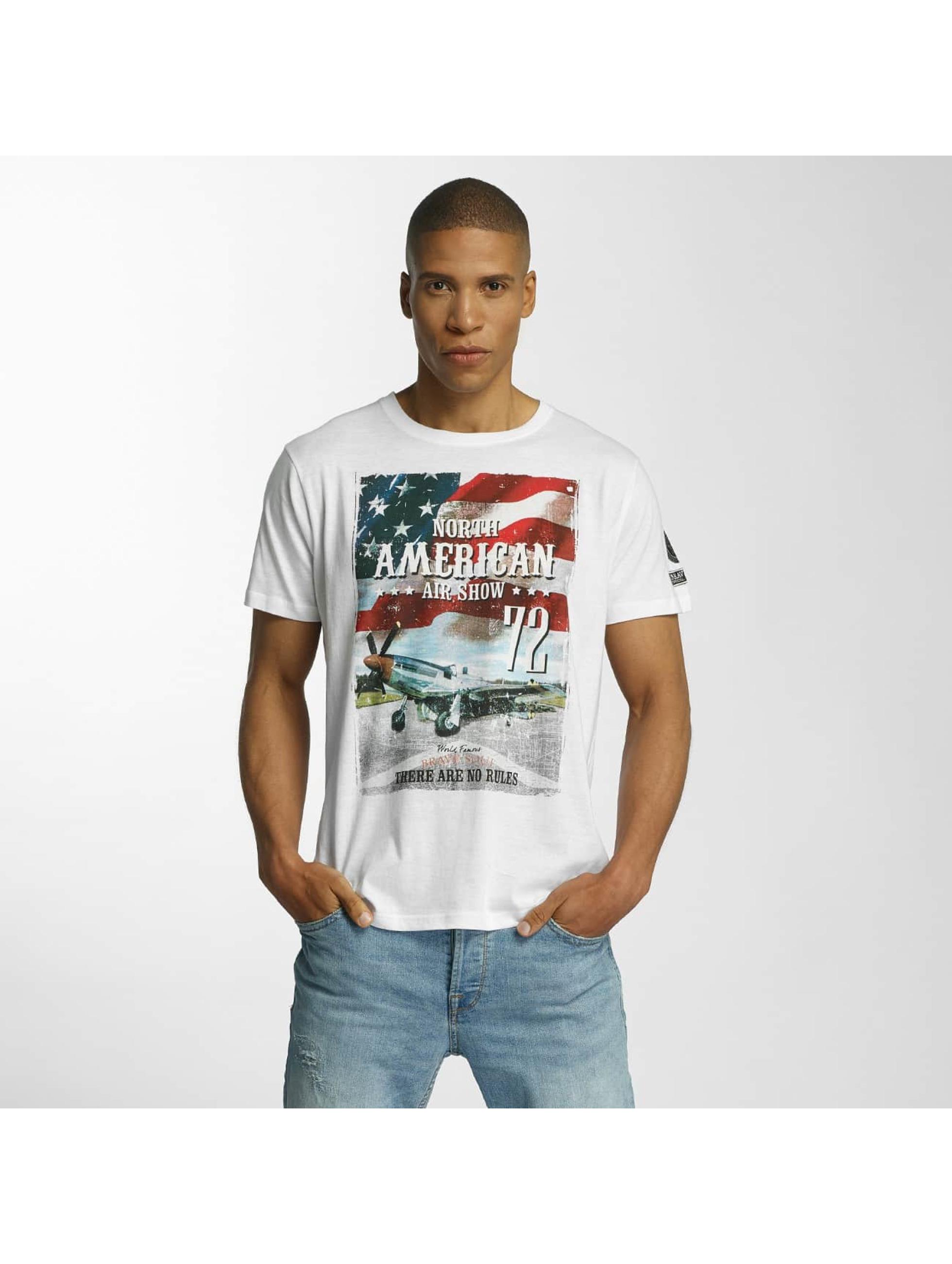 Brave Soul Männer T-Shirt Large Crew Neck in weiß
