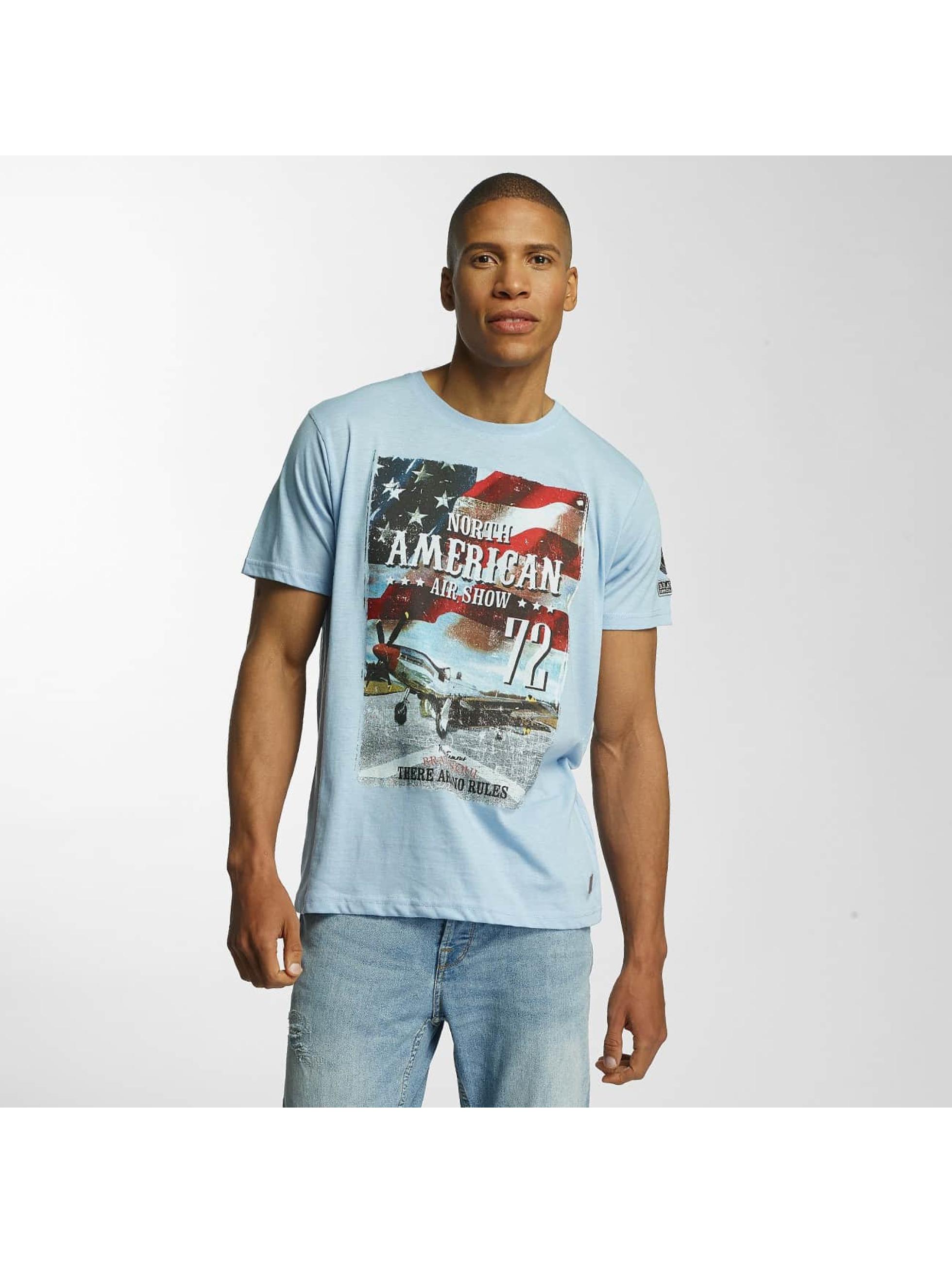 Brave Soul Männer T-Shirt Large Crew Neck in blau