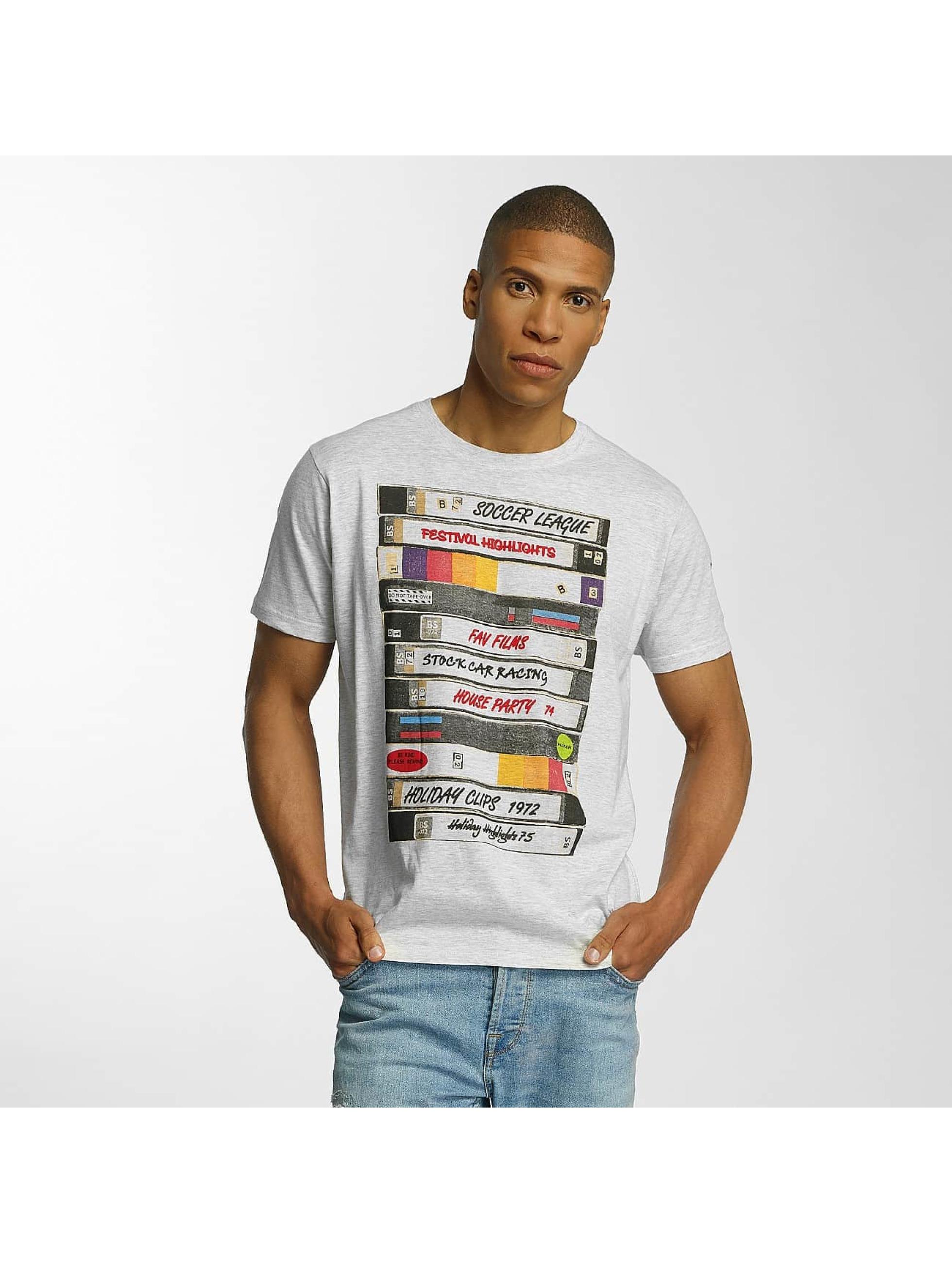 Brave Soul Männer T-Shirt All Over Crew Neck in grau