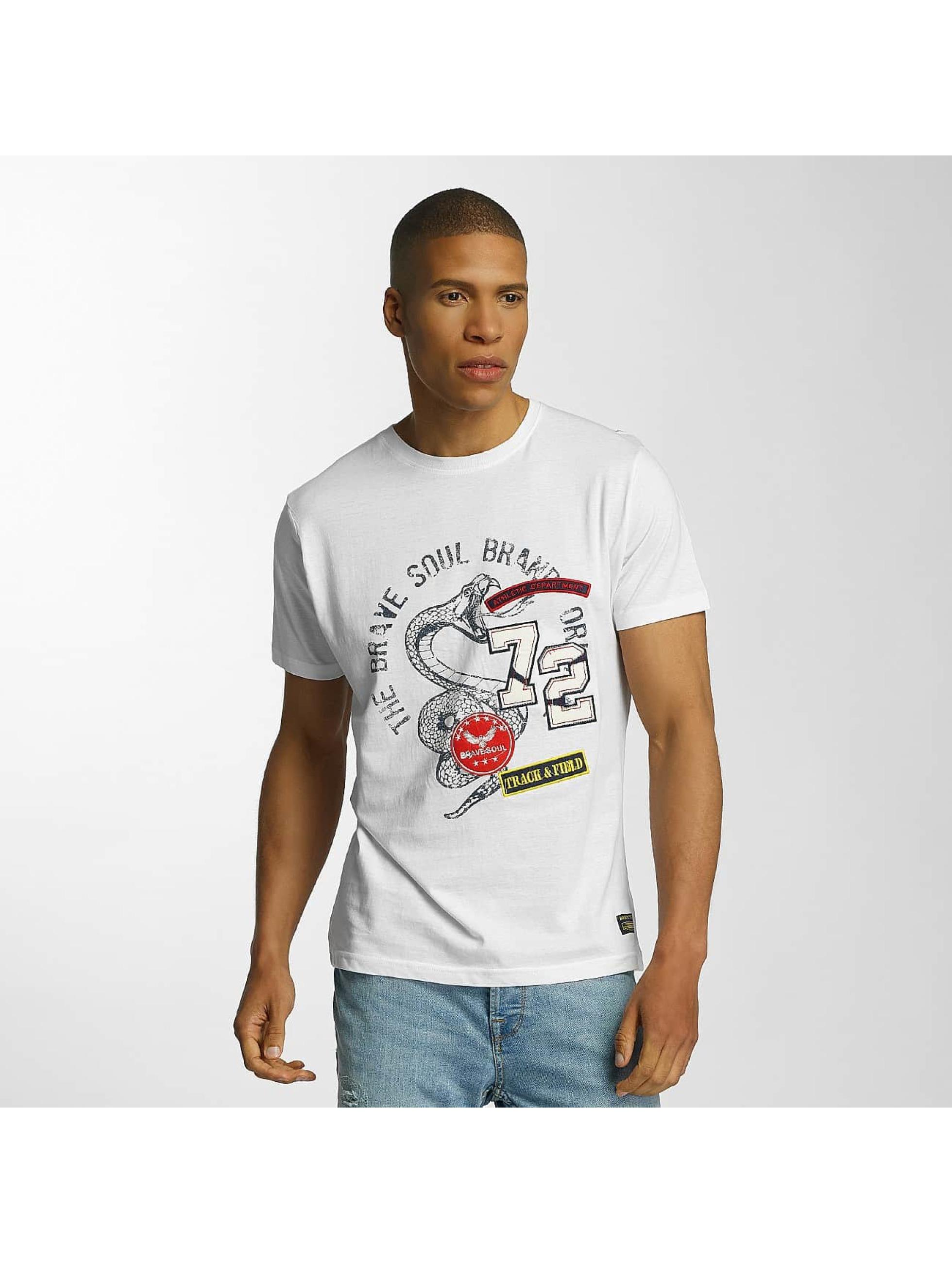 Brave Soul Männer T-Shirt Crew Neck Set in weiß