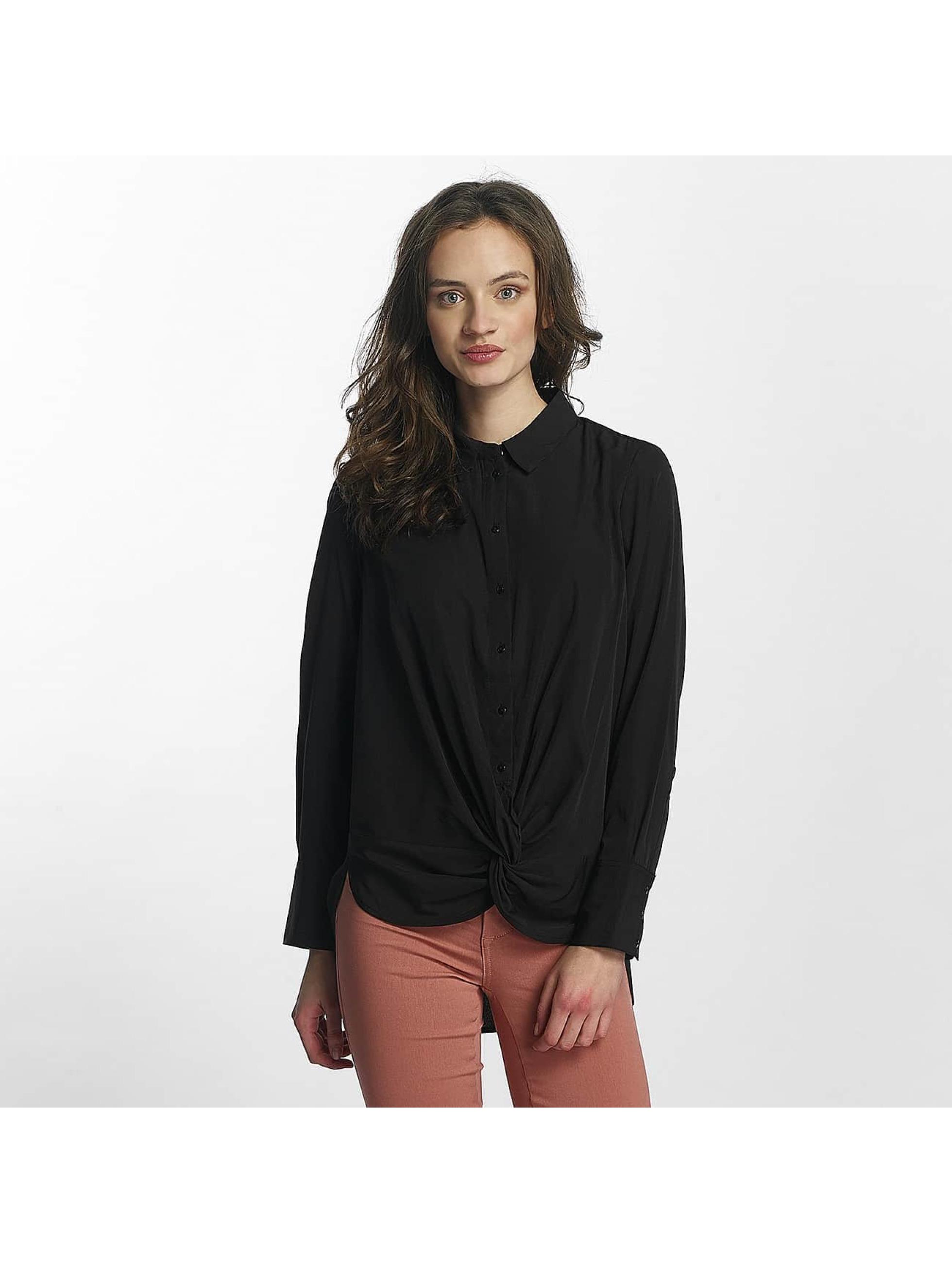 Vero Moda Frauen Hemd vmBind in schwarz
