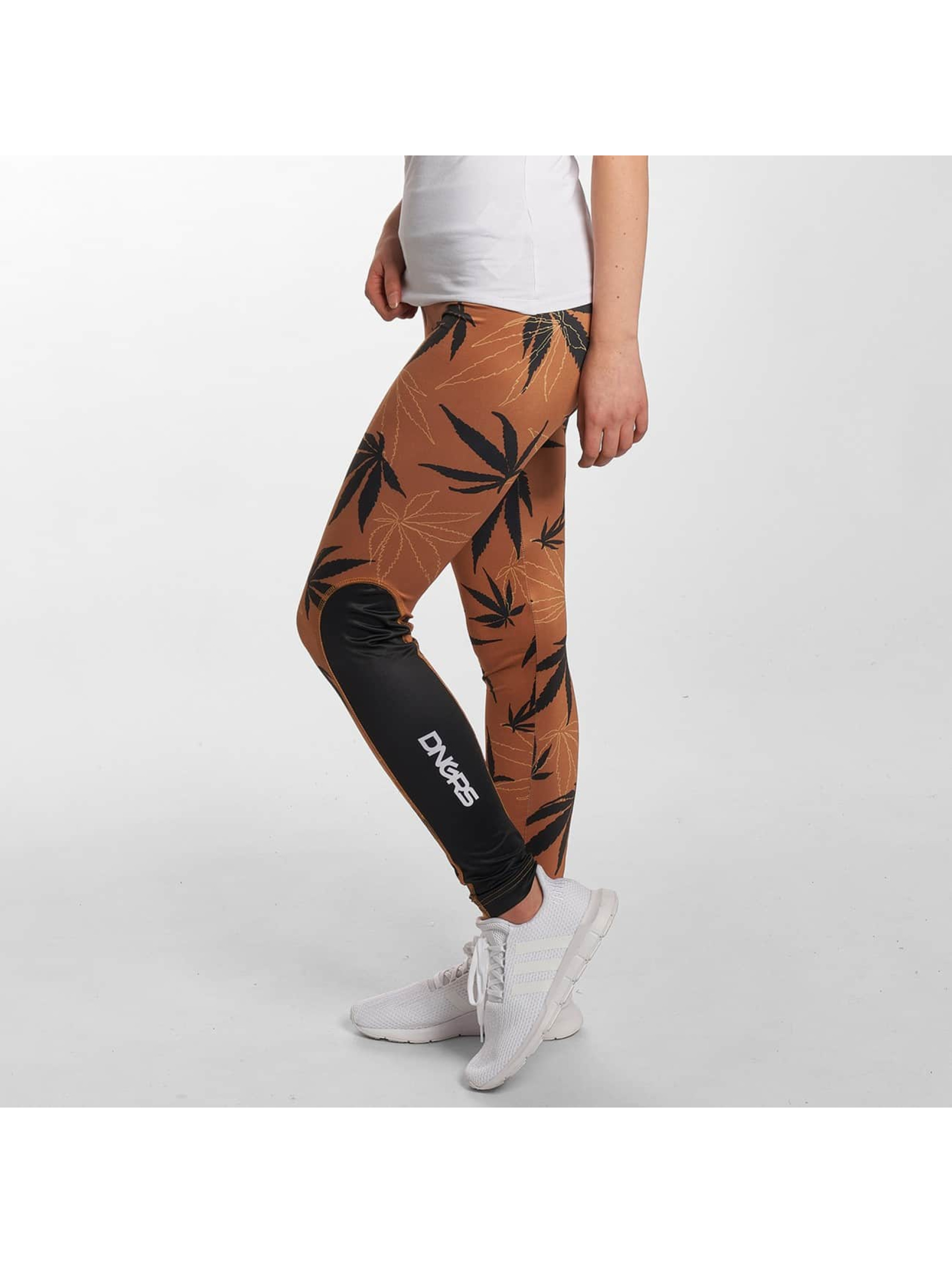 Dangerous DNGRS / Legging/Tregging Weedo in brown XXS