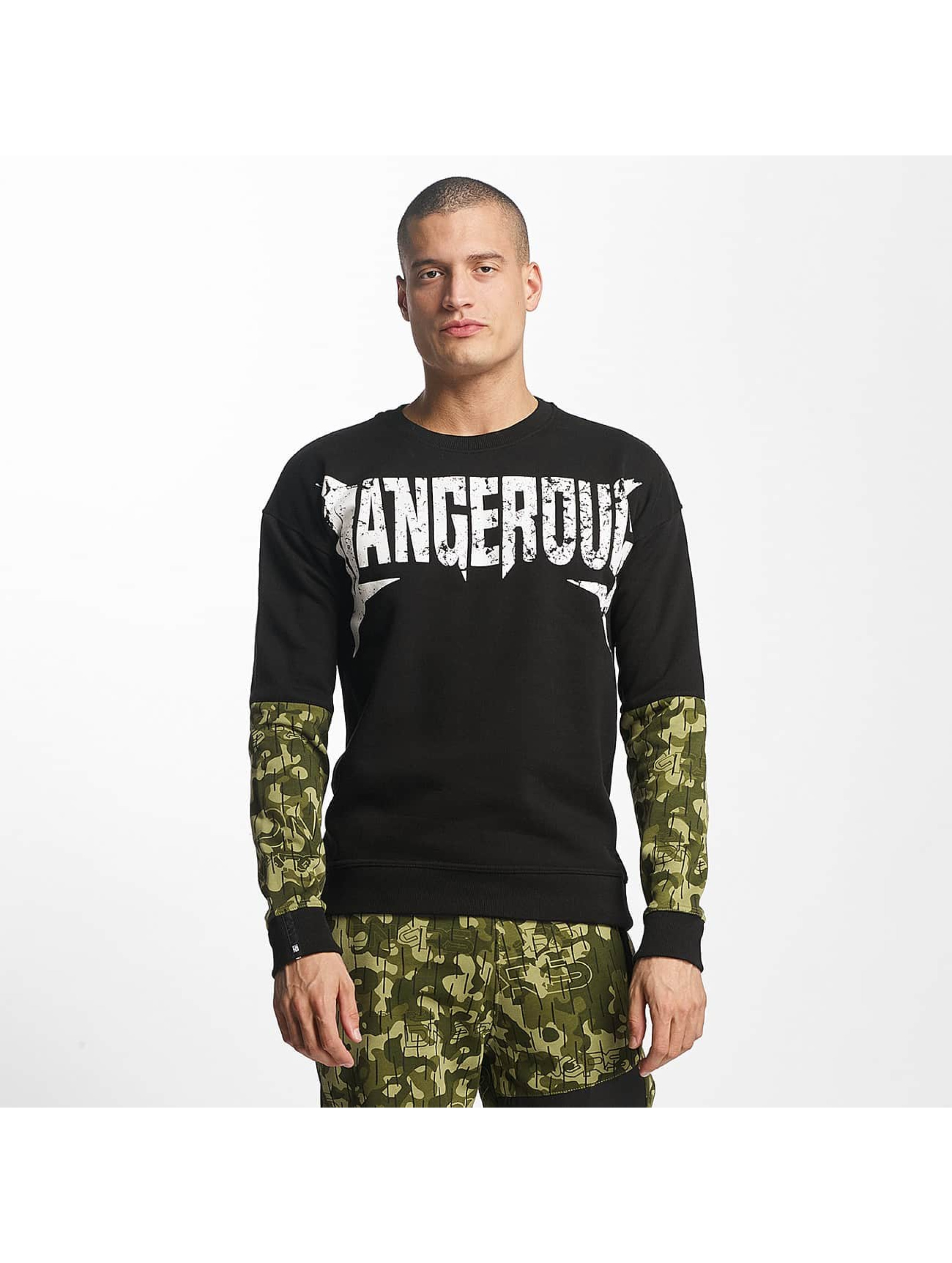Dangerous DNGRS / Pullover Methal in black 5XL