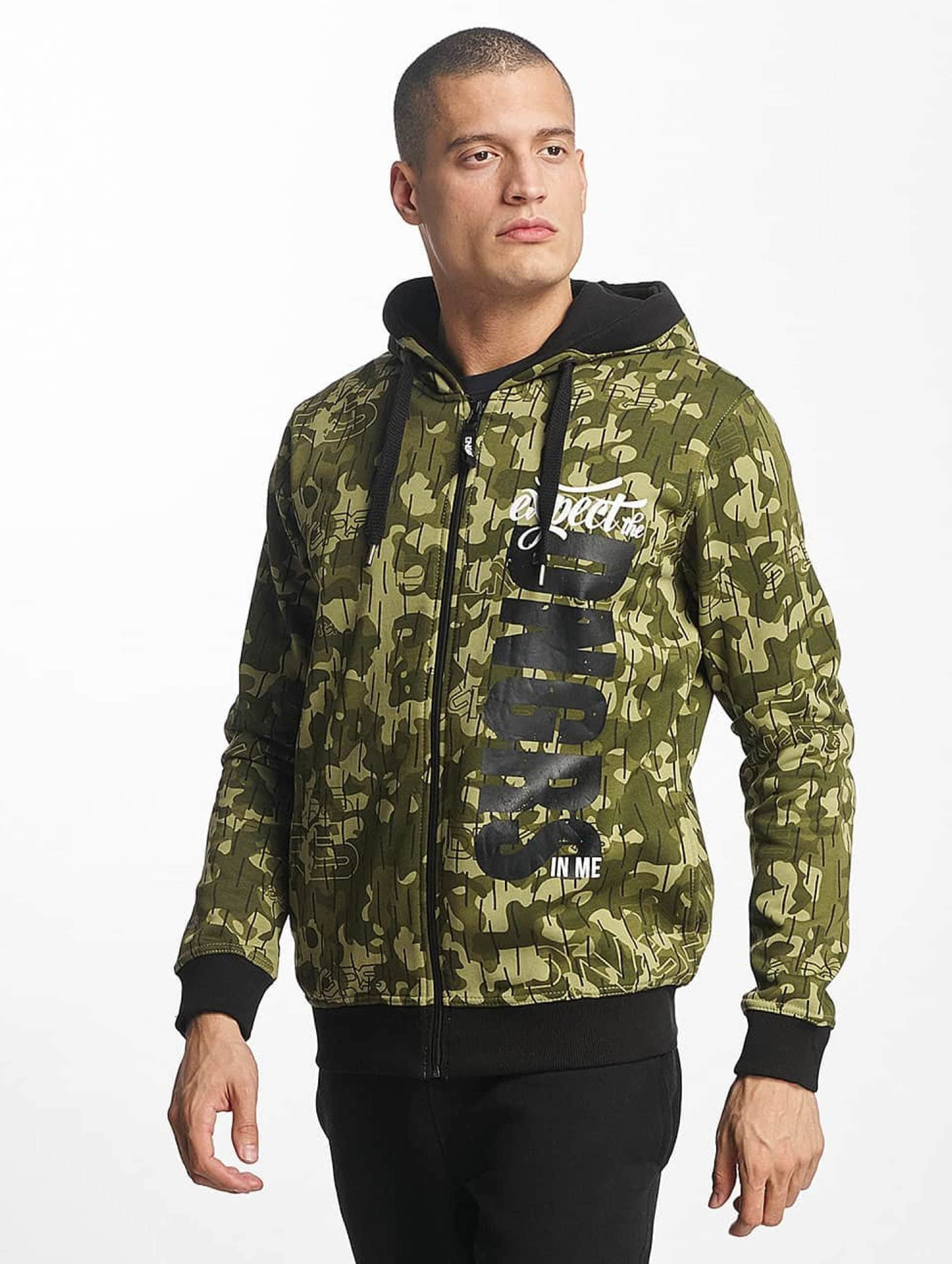 Dangerous DNGRS Männer Zip Hoodie Unexpected in camouflage