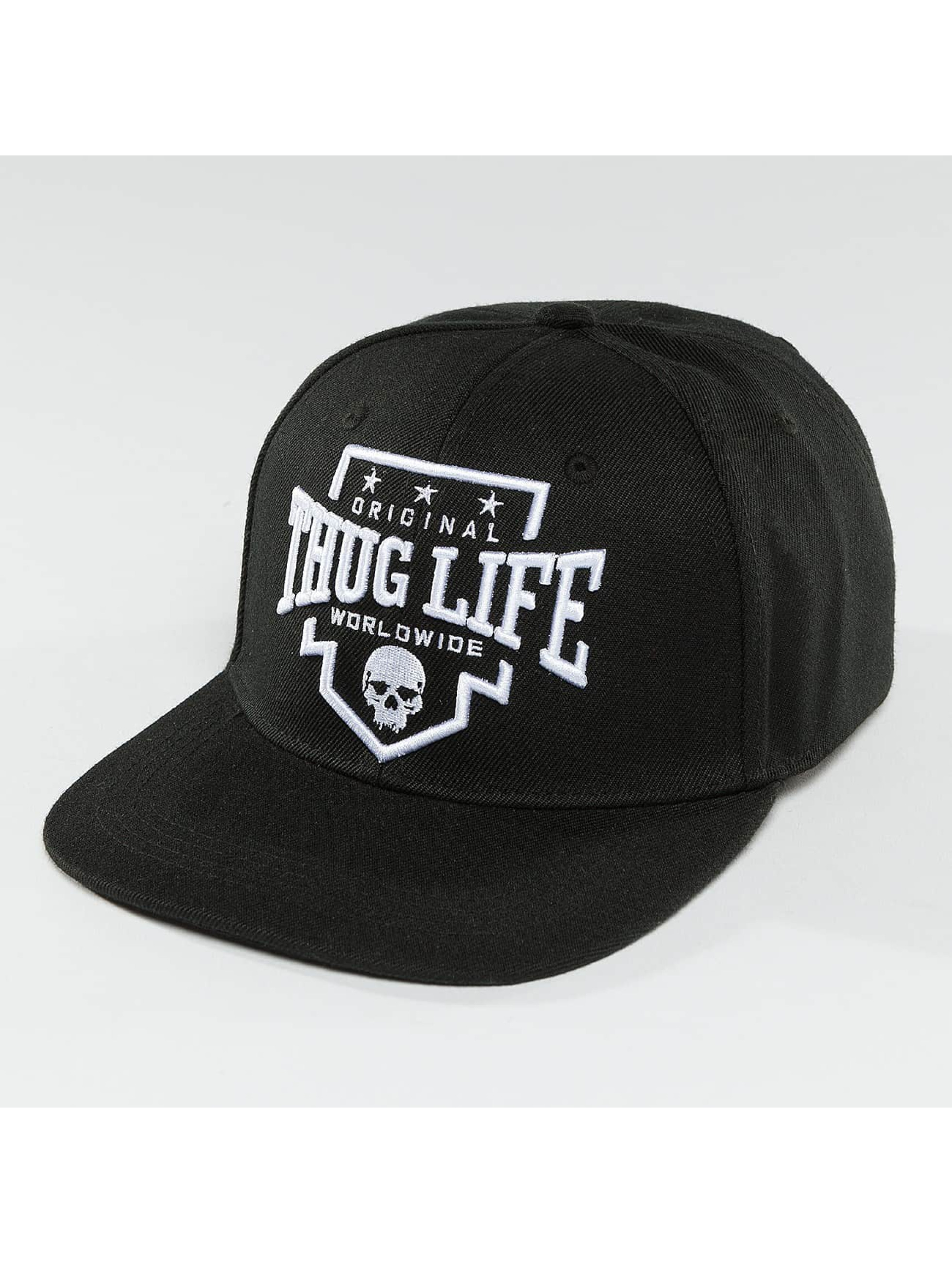 Thug Life / Snapback Cap Worldwide in black Adjustable