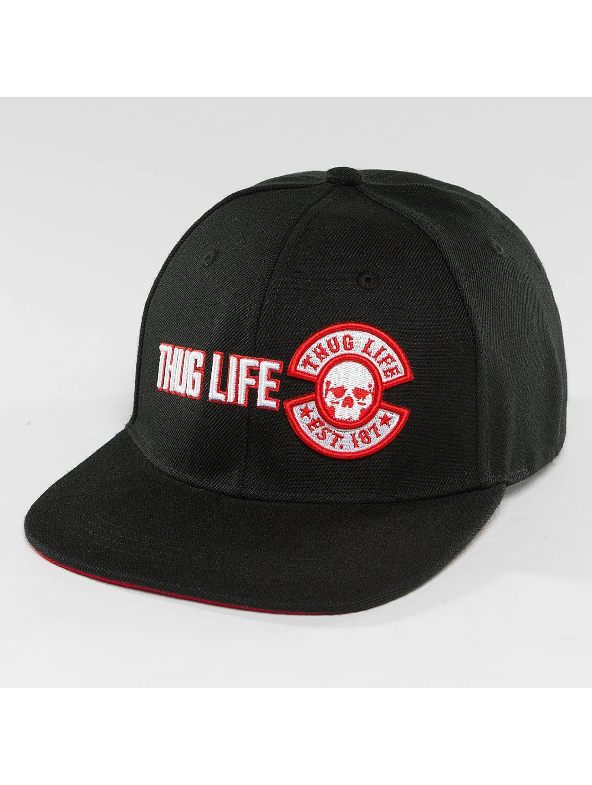 Thug Life / Snapback Cap Lux in black Adjustable