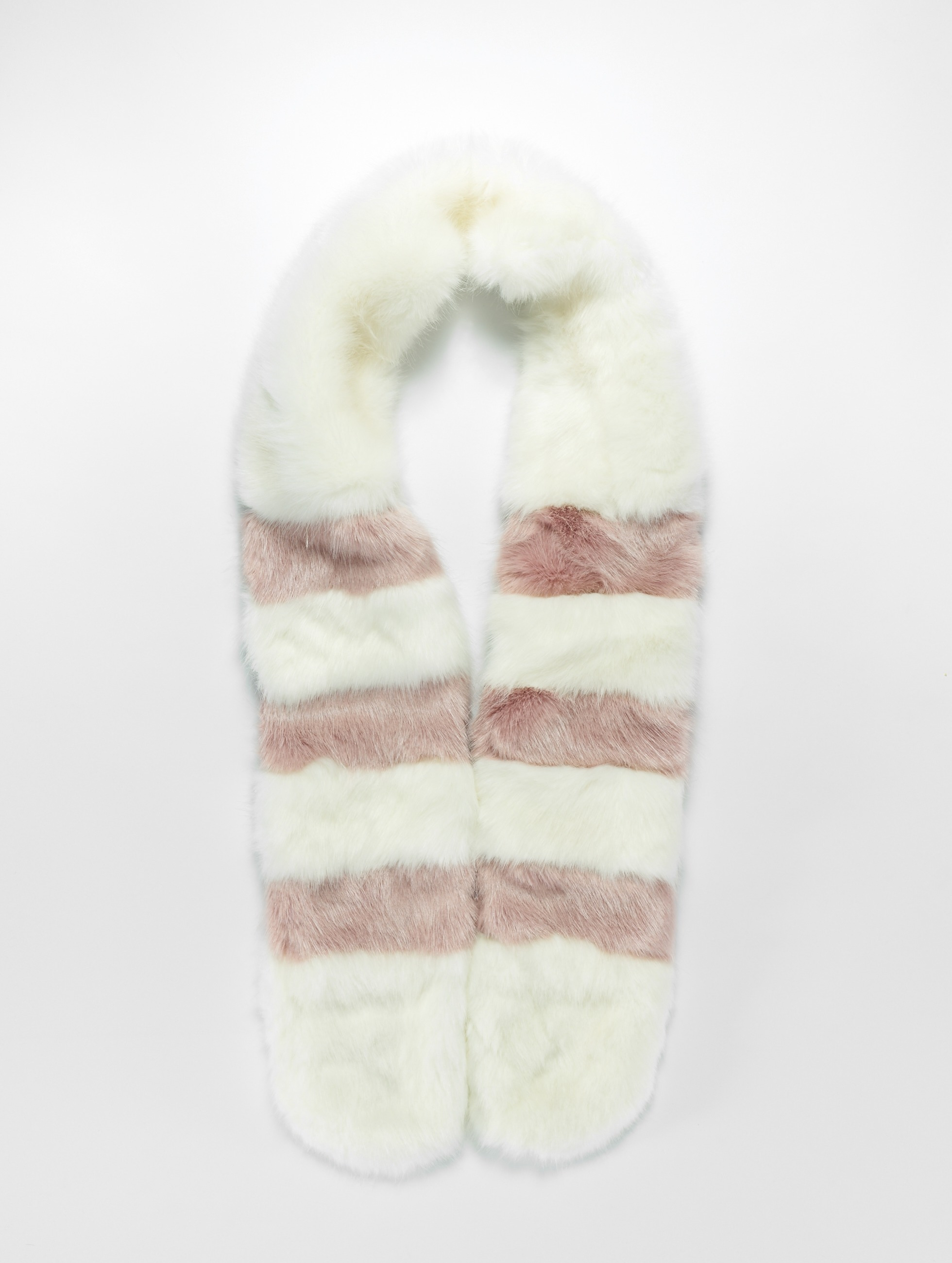 Bangastic / Scarve Fake Fur in white One Size