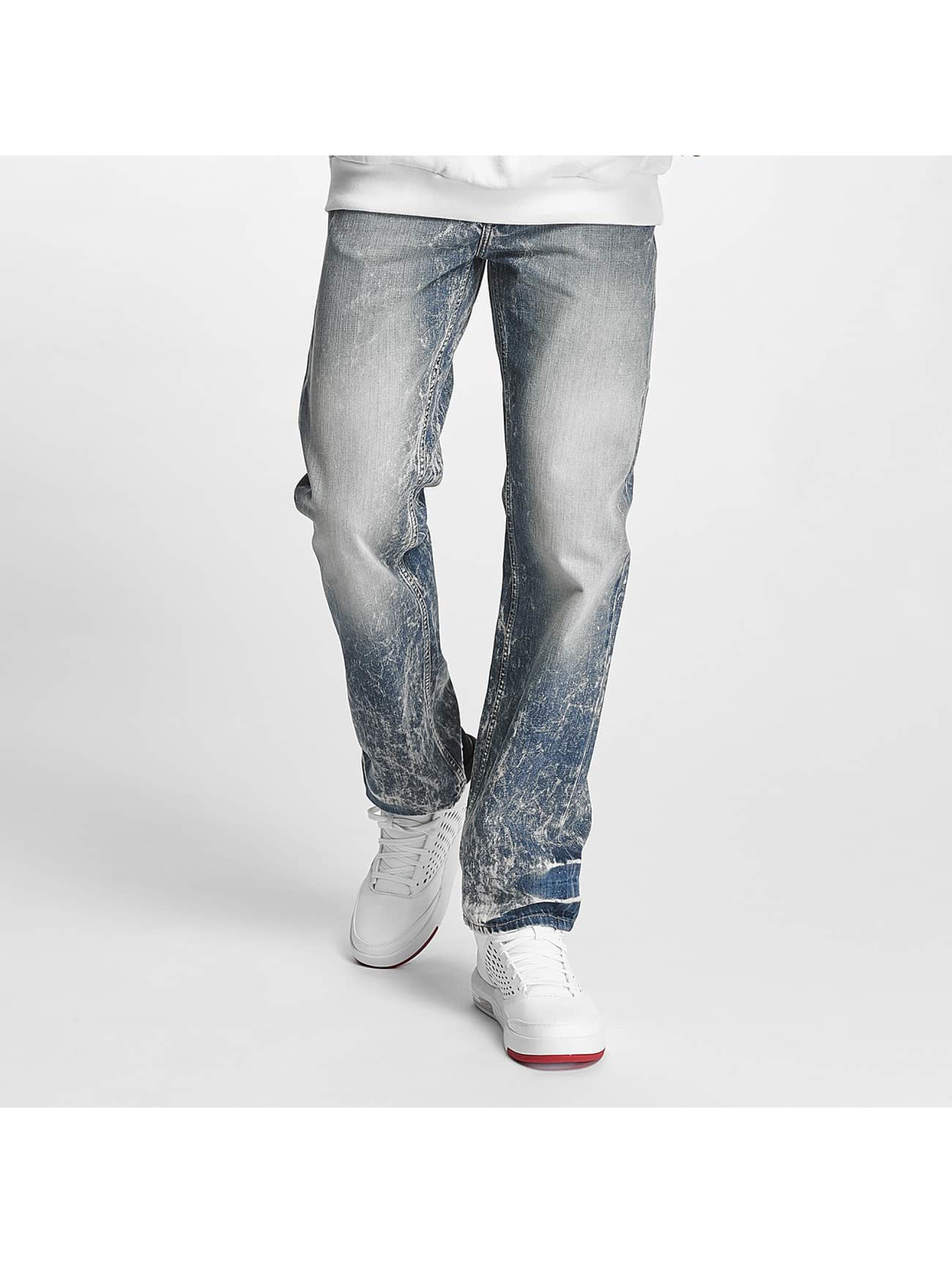 Pelle Pelle Männer Straight Fit Jeans Baxter in blau